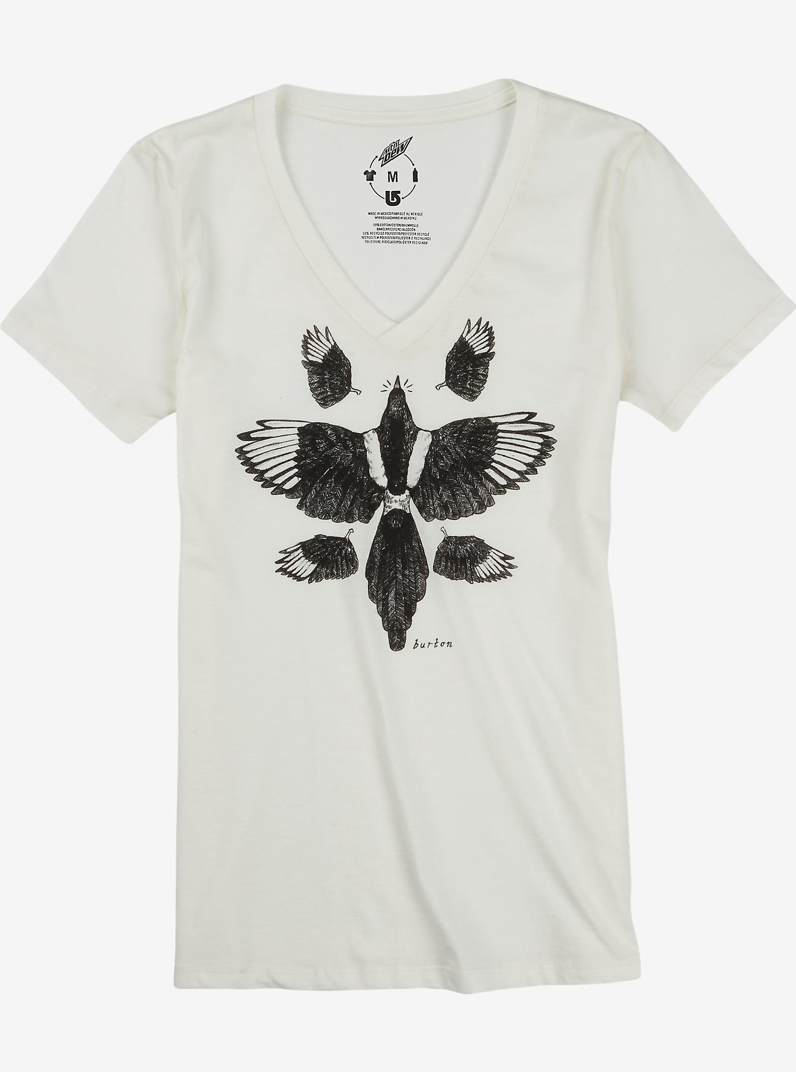 Burton Starling V-Neck Recycled T Shirt shown in Vanilla Heather