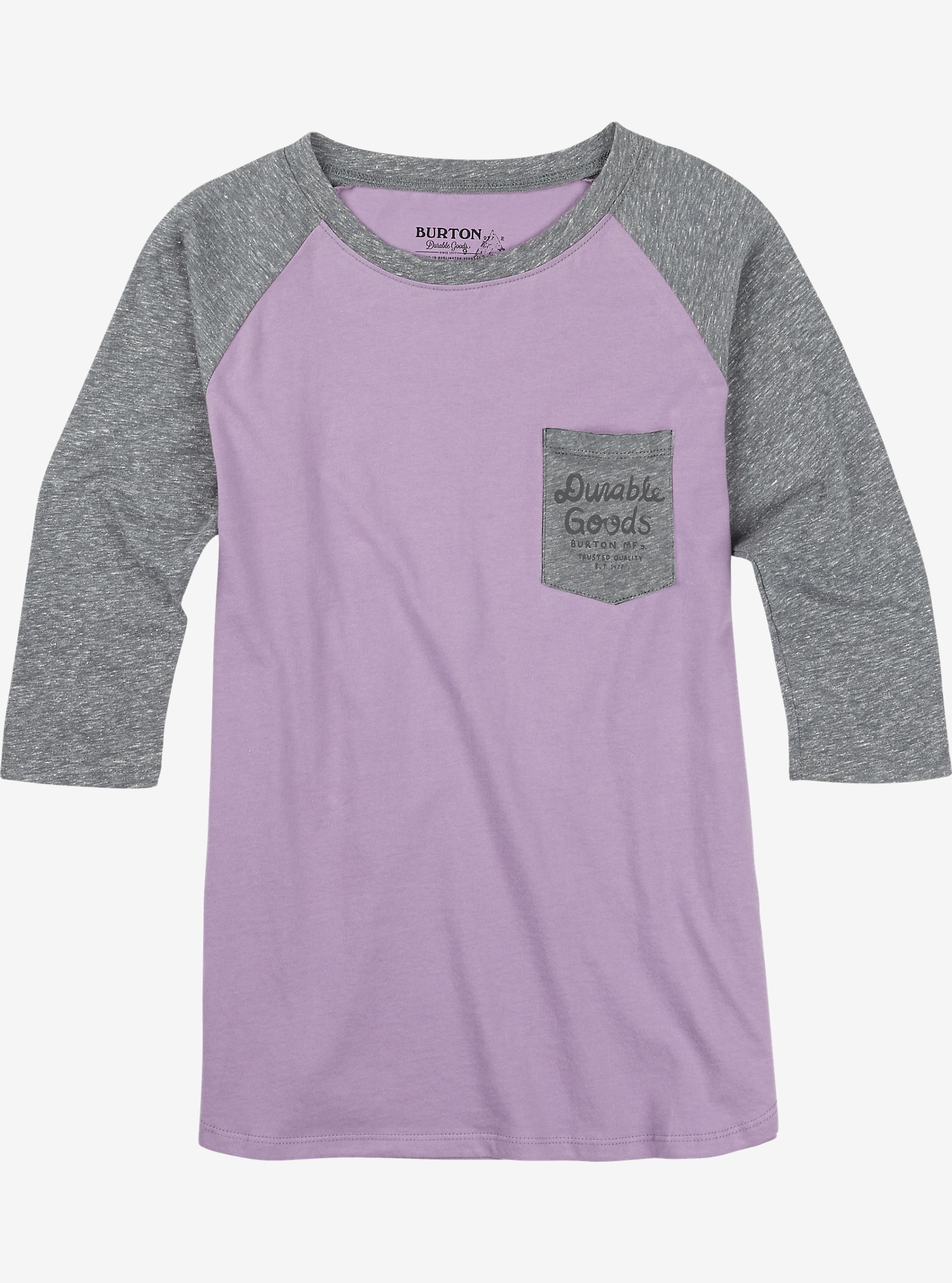 Burton Trusted T-Shirt mit Raglanärmeln angezeigt in Dusty Grape