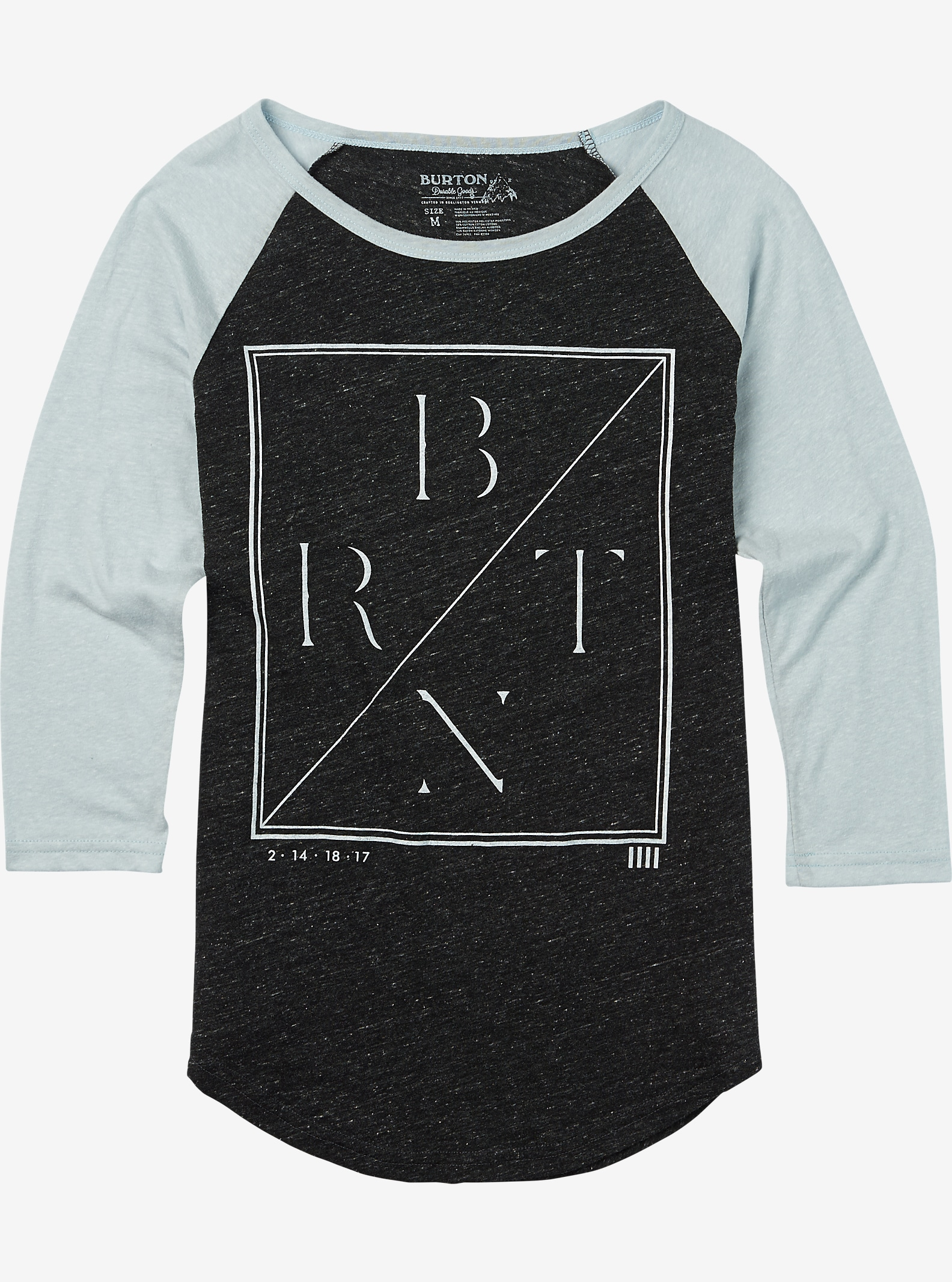 Burton Morton Raglan T Shirt shown in True Black Heather