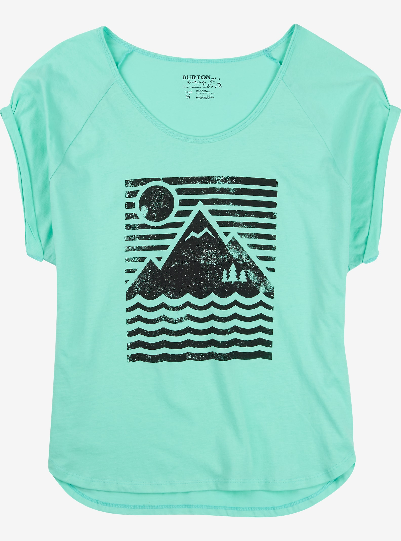 Burton Mountain Sun Rollie Short Sleeve T Shirt shown in Mint