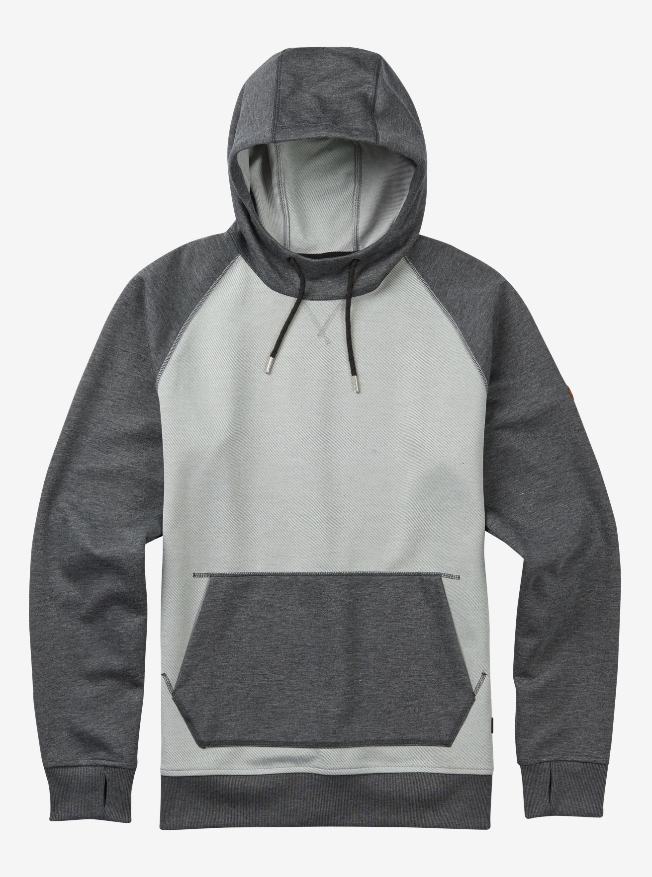 Burton Crown Bonded Pullover Hoodie shown in High Rise Twill