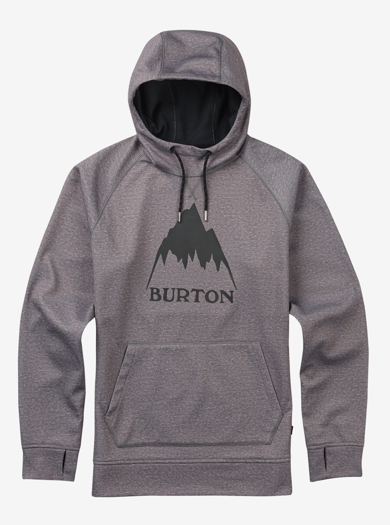 Burton Crown Bonded Pullover Hoodie shown in Monument Heather