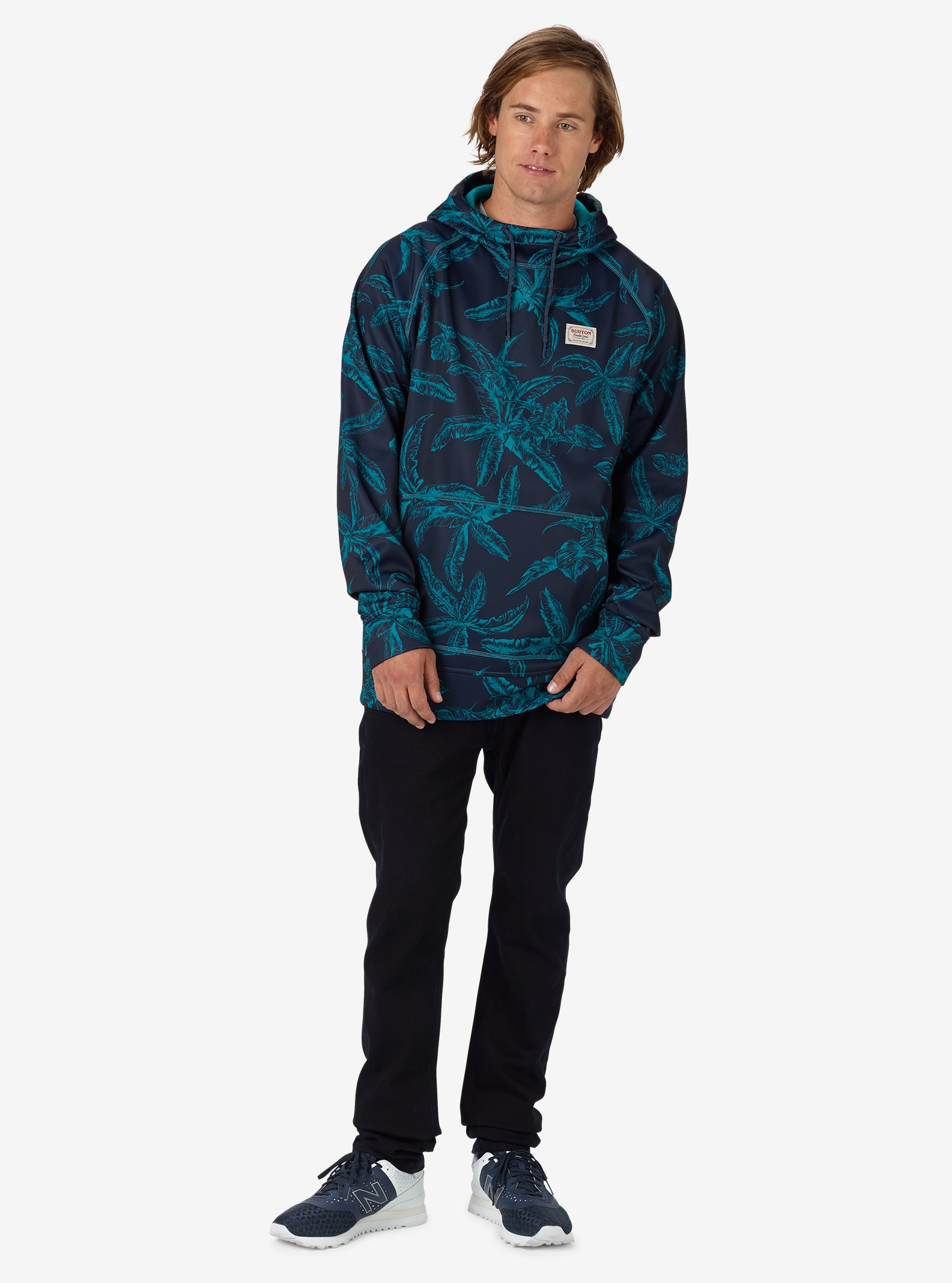 Burton Crown Bonded Pullover Hoodie shown in Eclipse Tropical