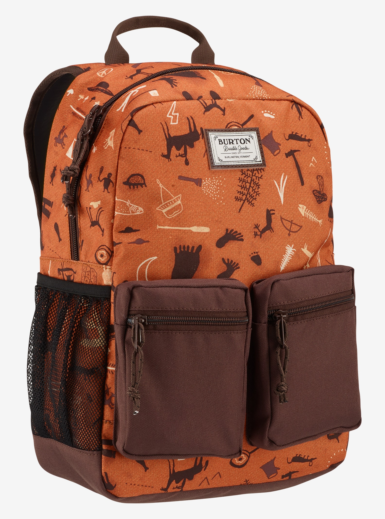 Burton Kids' Gromlet Backpack shown in Caveman Print