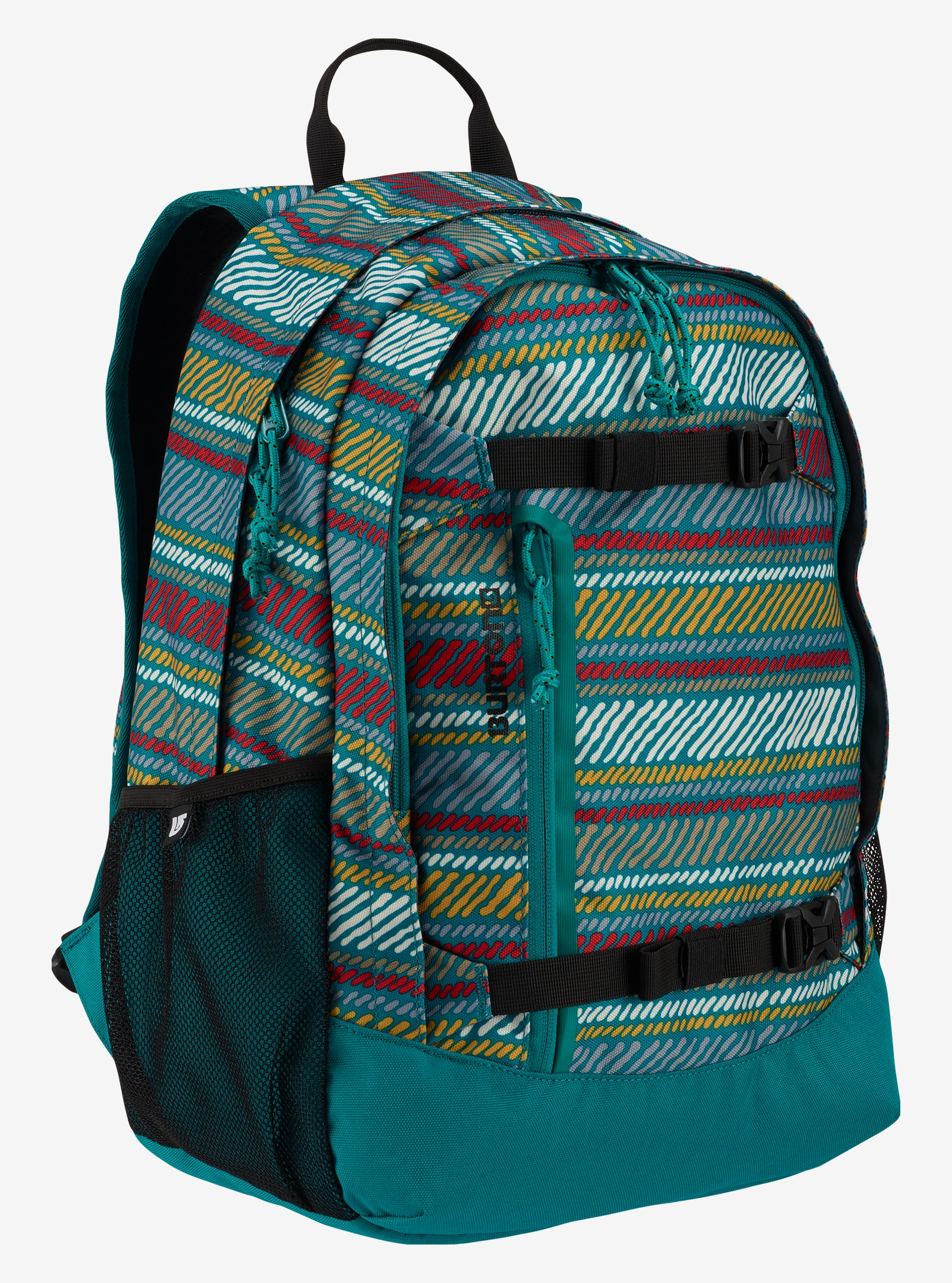 Burton Kids' Day Hiker 20L Backpack shown in Paint Stripe Print