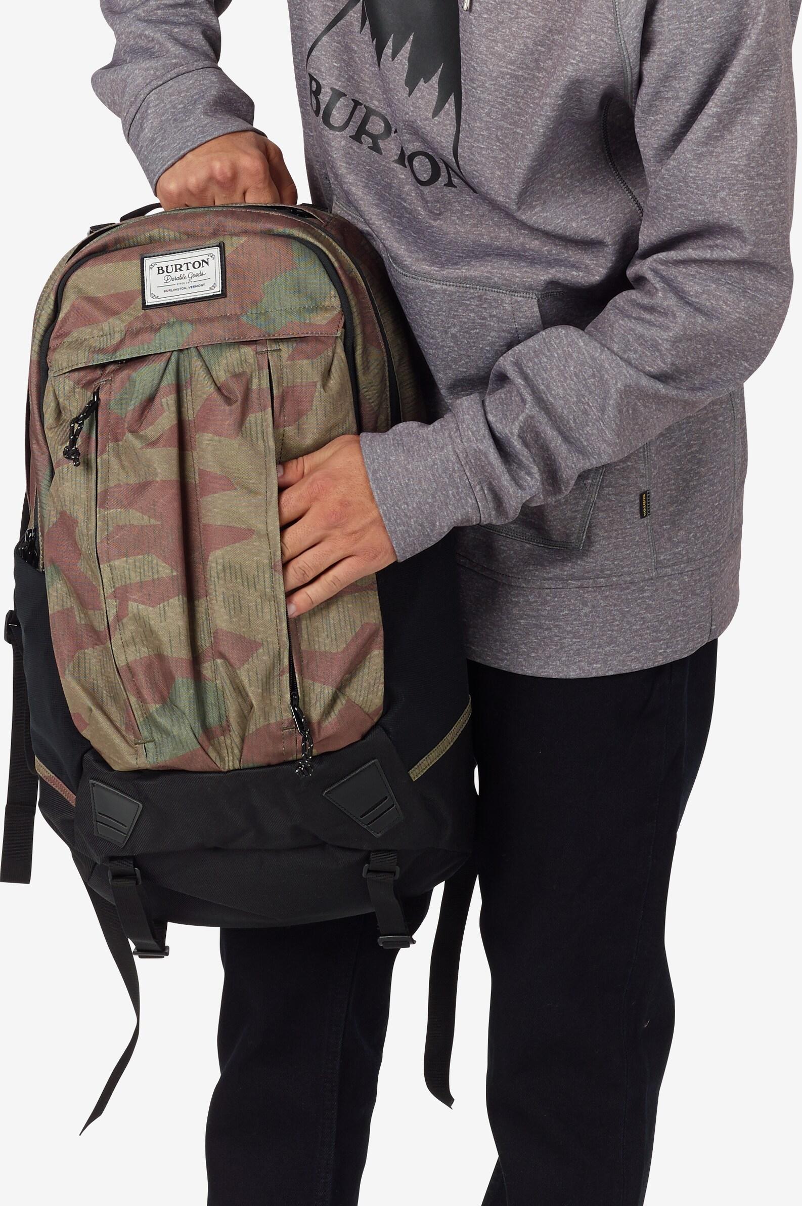 Burton Bravo Backpack shown in Splinter Camo Print