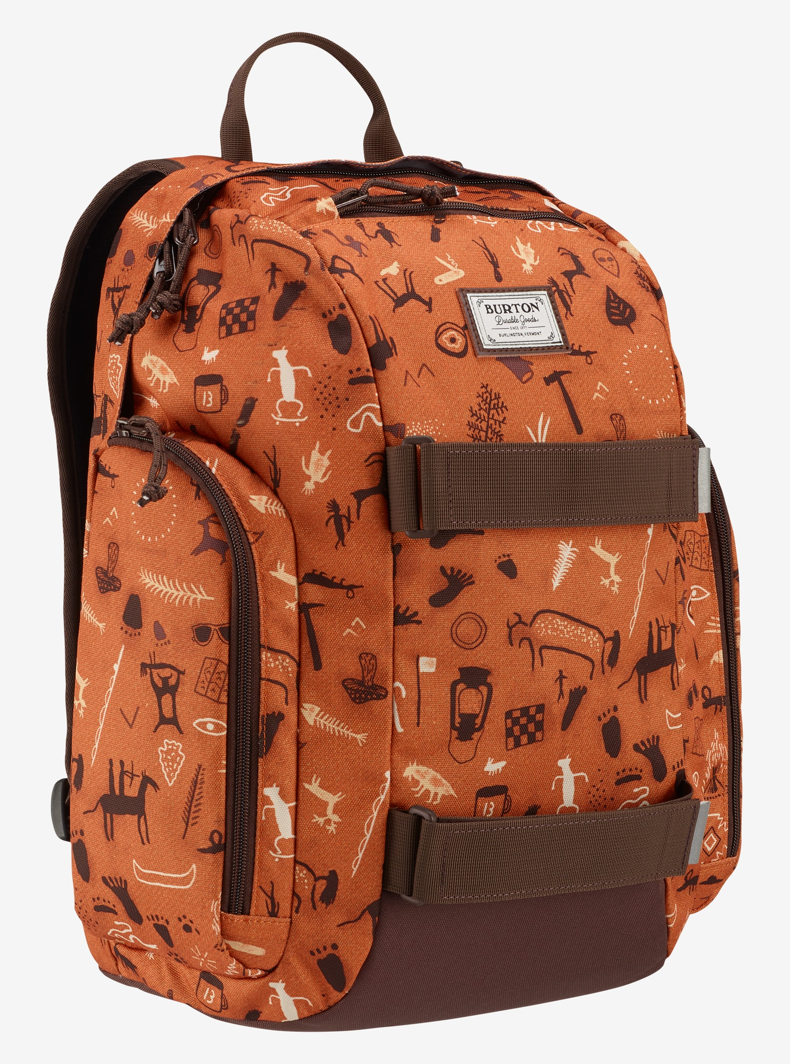Burton Kids' Metalhead Backpack shown in Caveman Print