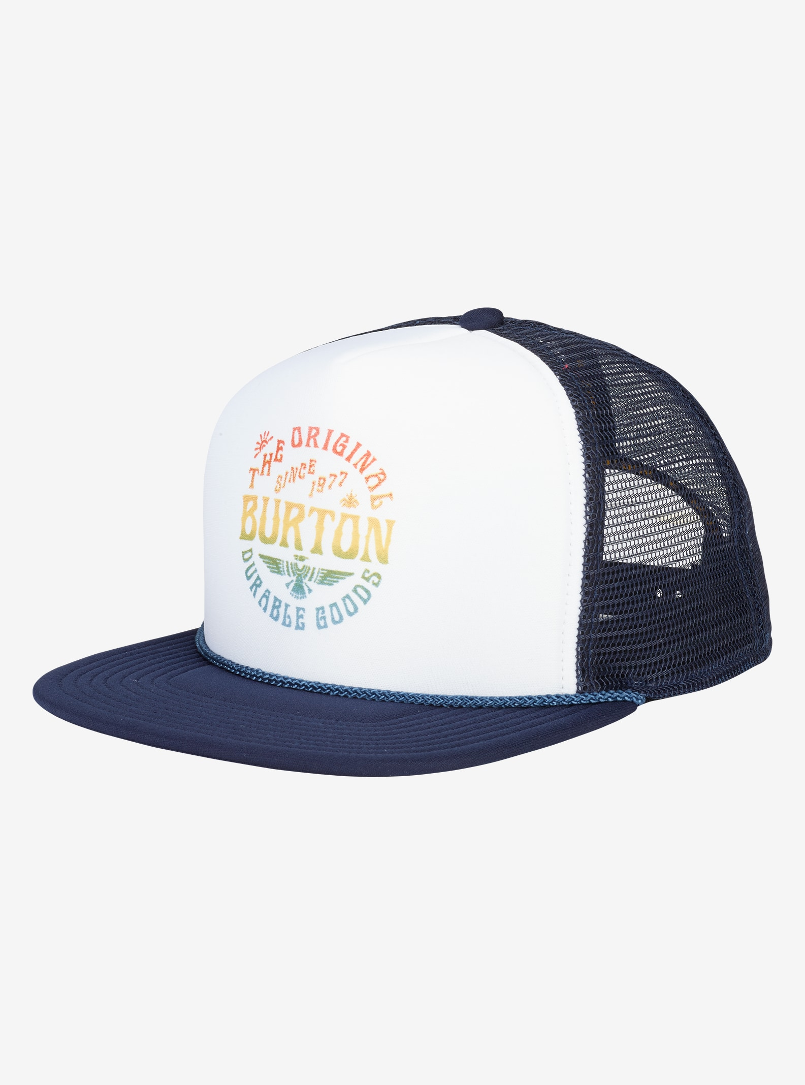 Burton I-80 Snapback Trucker Hat shown in Indigo