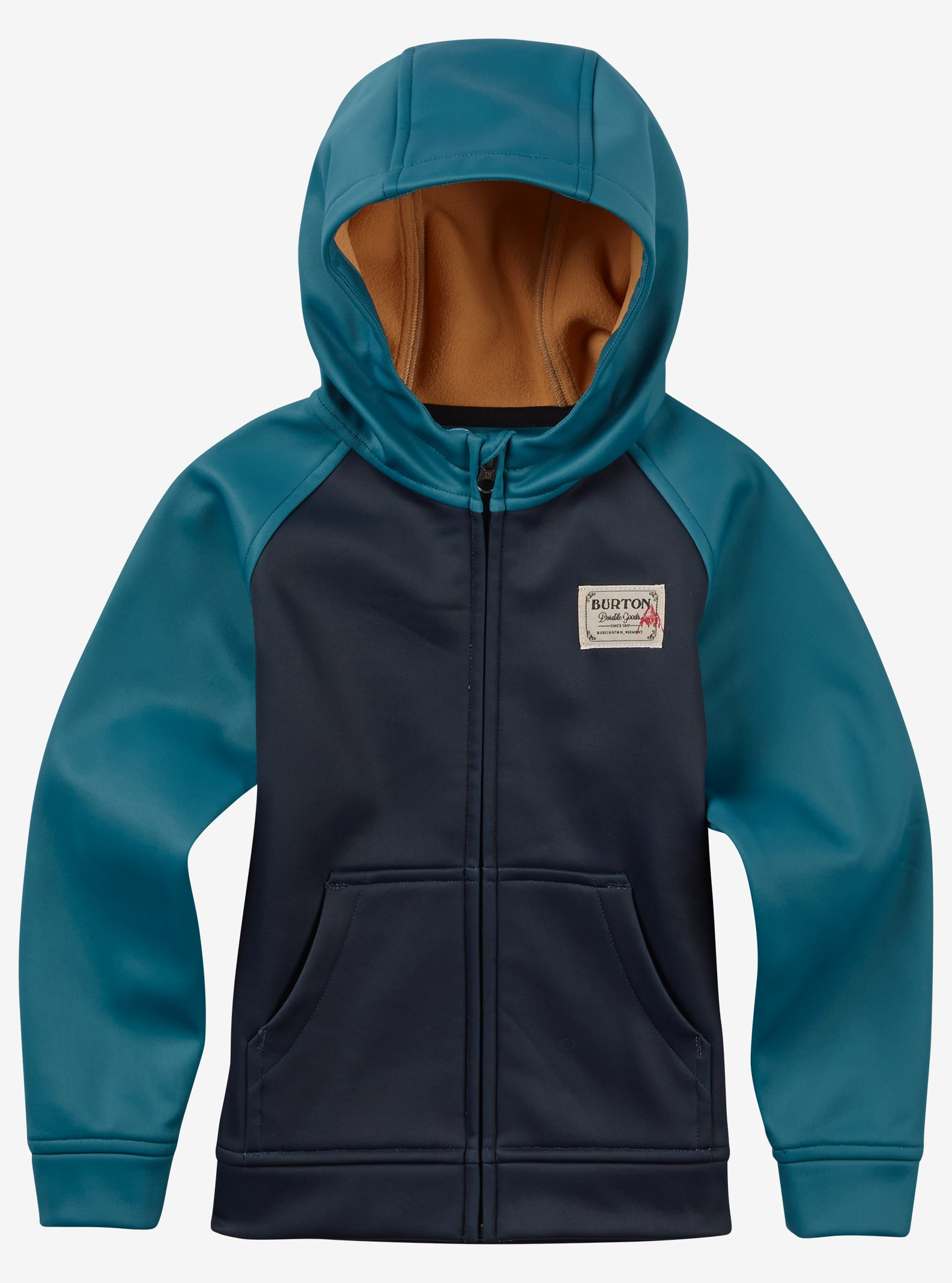 Burton Boys' Mini Bonded Full-Zip Hoodie shown in Eclipse / Fanfare