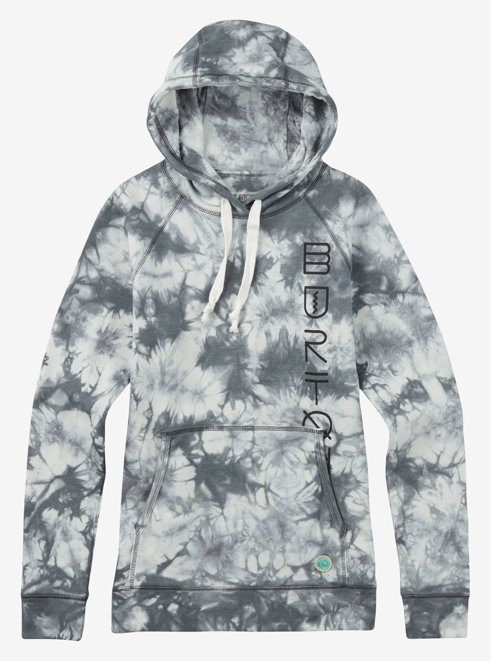 Burton Infinity Pullover Hoodie shown in True Black Tie Dye
