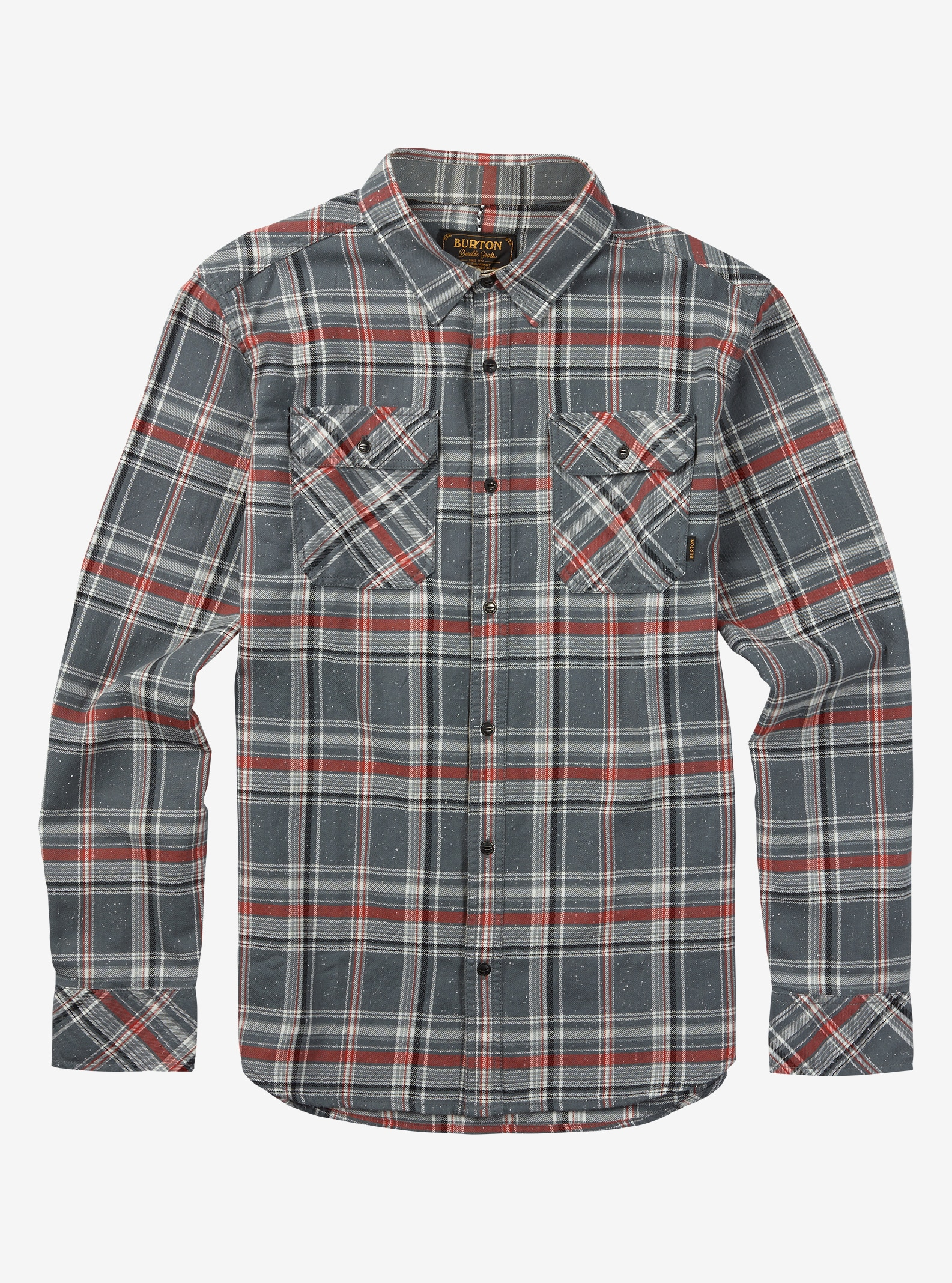 Burton Brighton Flannel shown in Monument Plaid