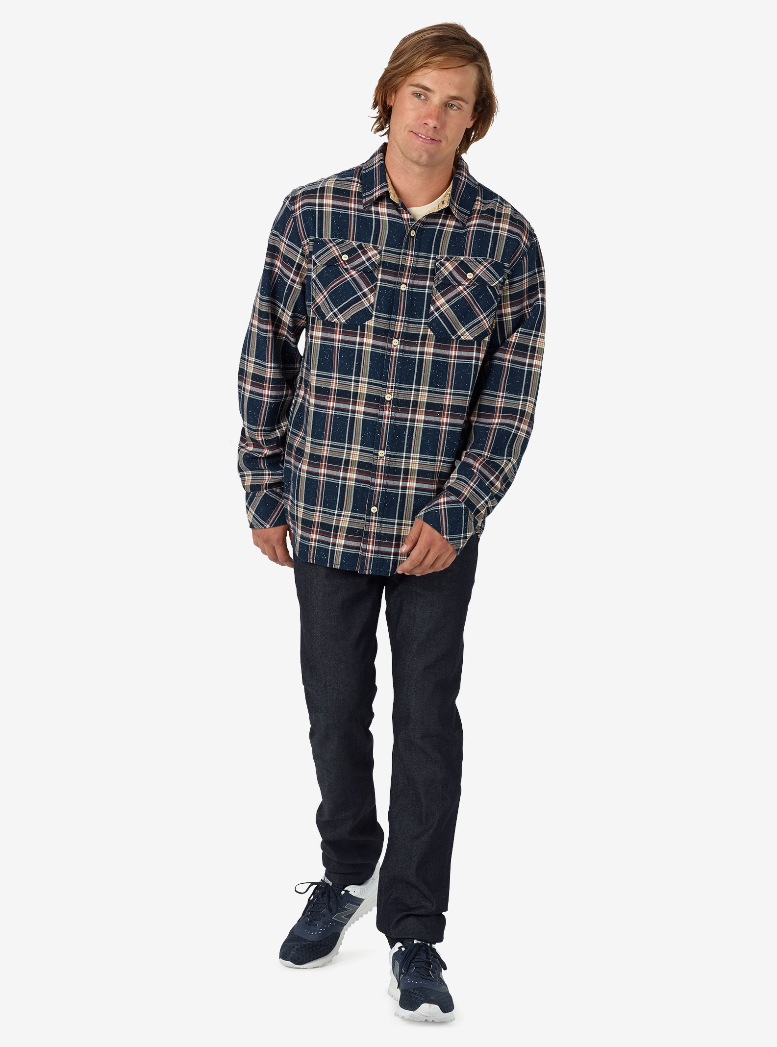 Burton Brighton Flannel shown in Eclipse Plaid