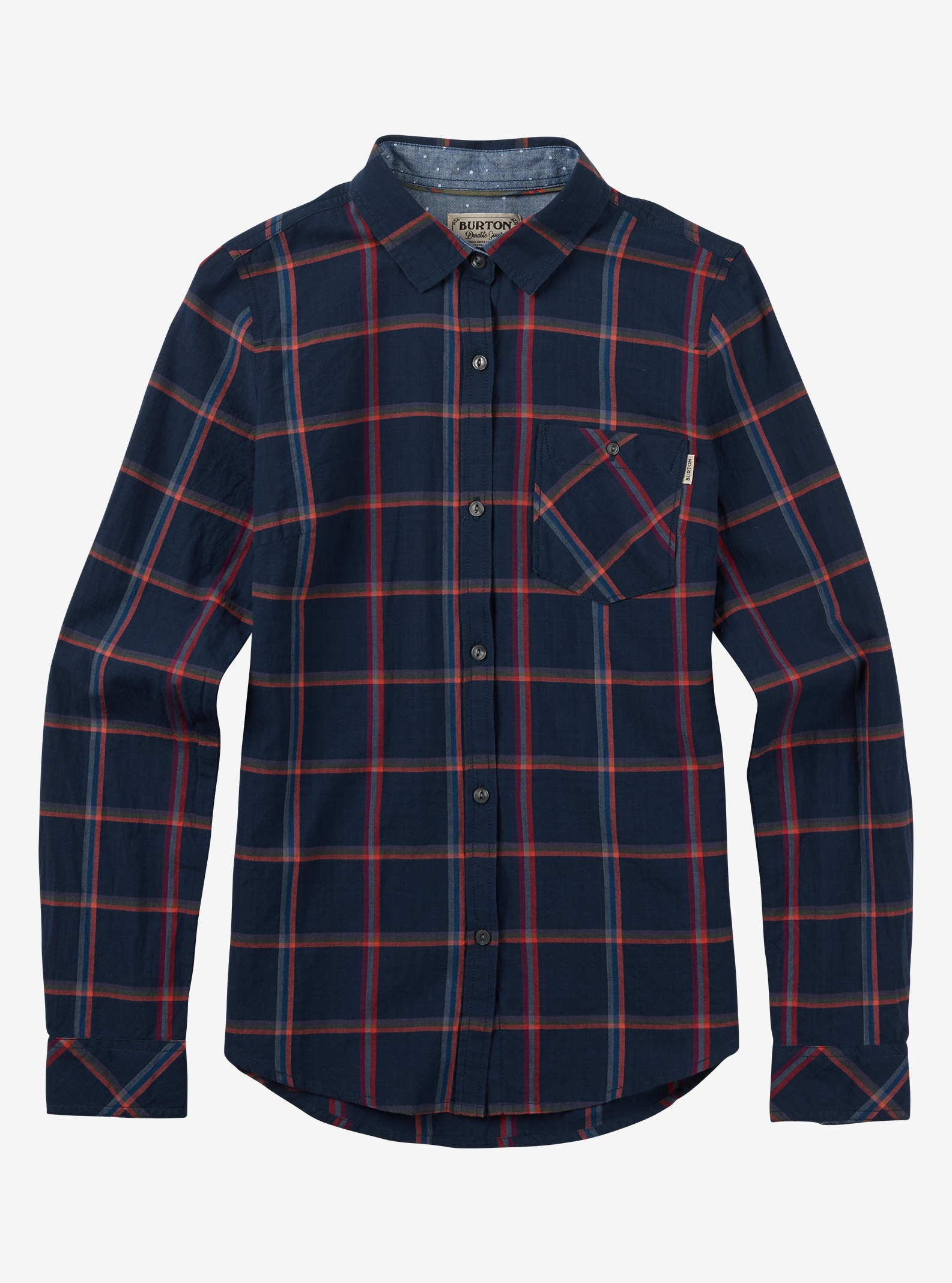 Burton Grace Long Sleeve Woven shown in Mood Indigo Bonfire