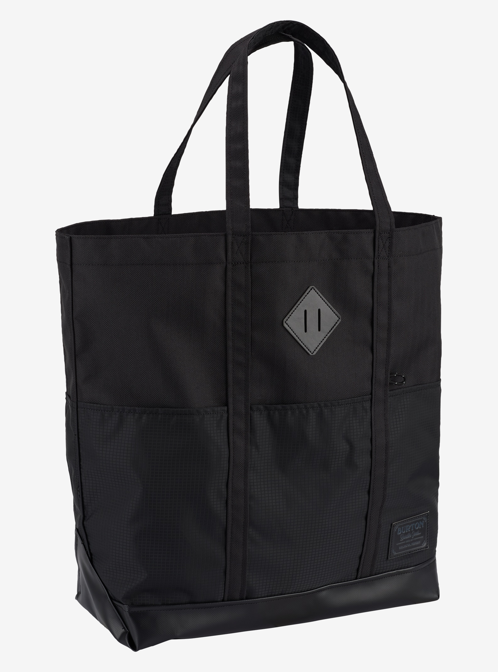 Burton Crate Tote Bag - Large shown in True Black Heather Twill