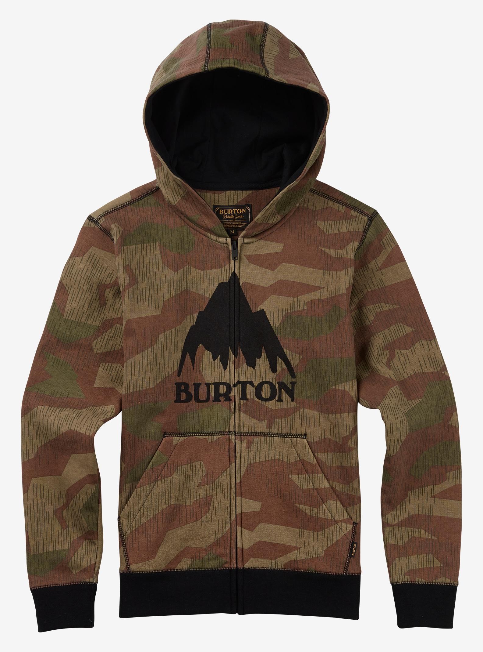 Burton Classic Mountain Full-Zip Hoodie shown in Splinter Camo