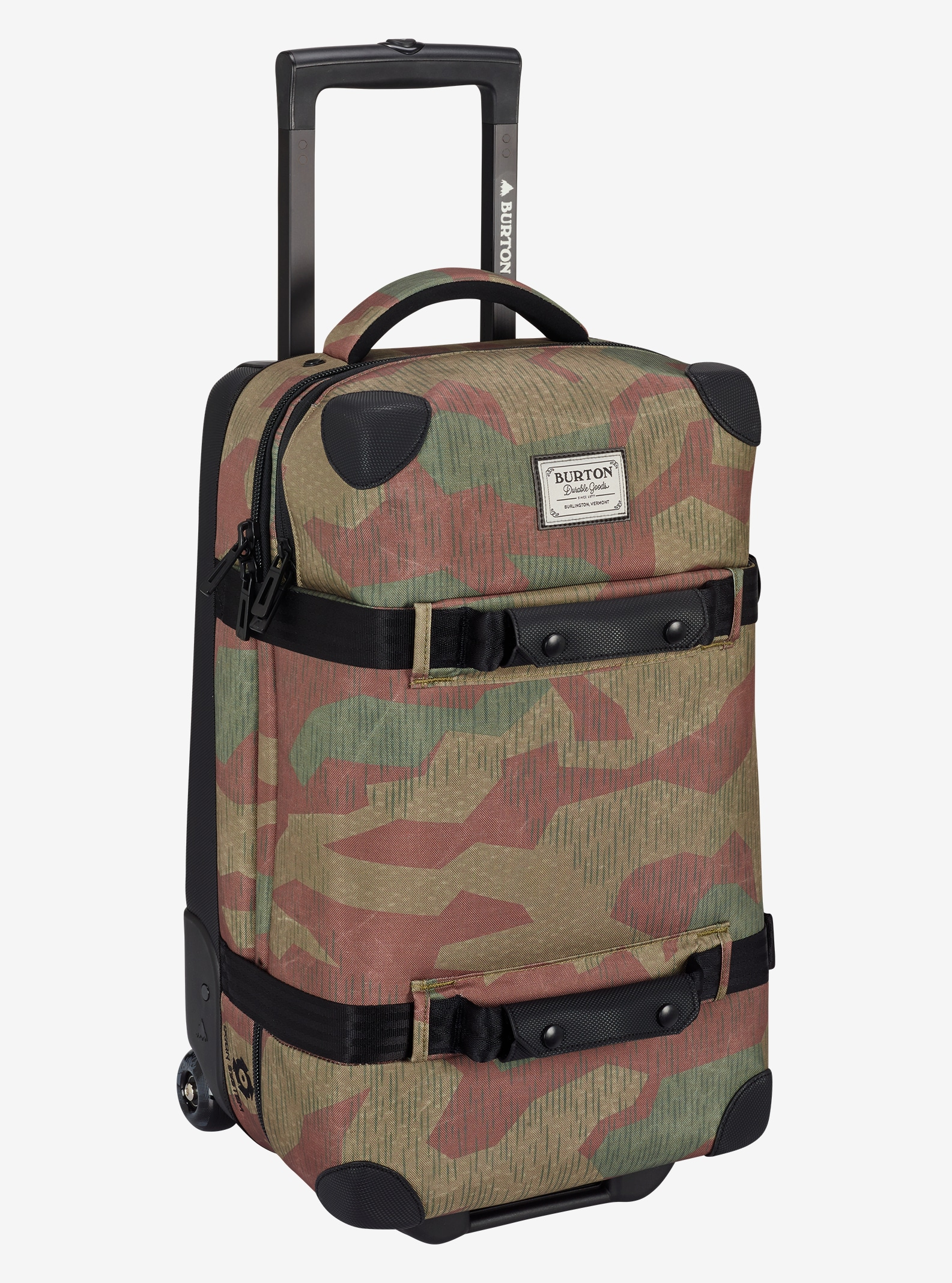 Burton Wheelie Flight Deck Travel Bag shown in Splinter Camo Print