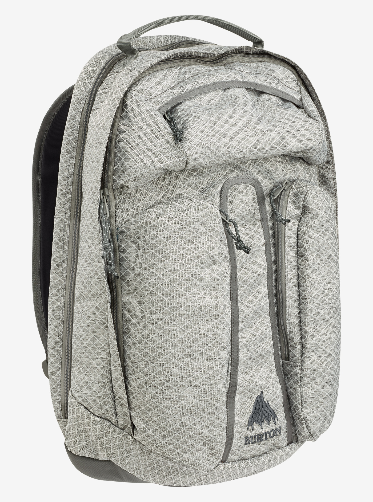 Burton Curbshark Backpack shown in Grey Heather Diamond Ripstop