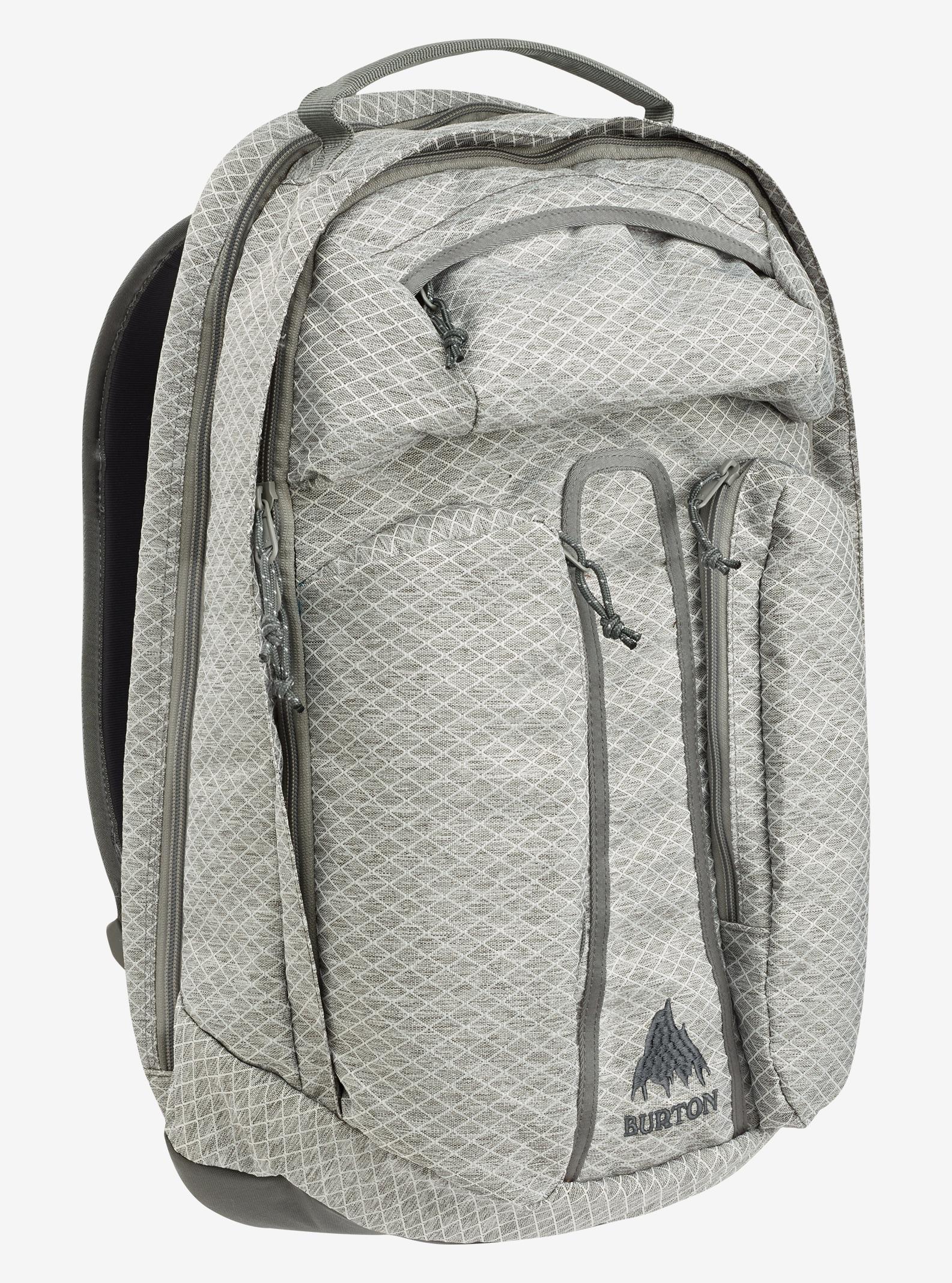 Burton Curbshark Backpack shown in Grey Heather Diamond Ripstop