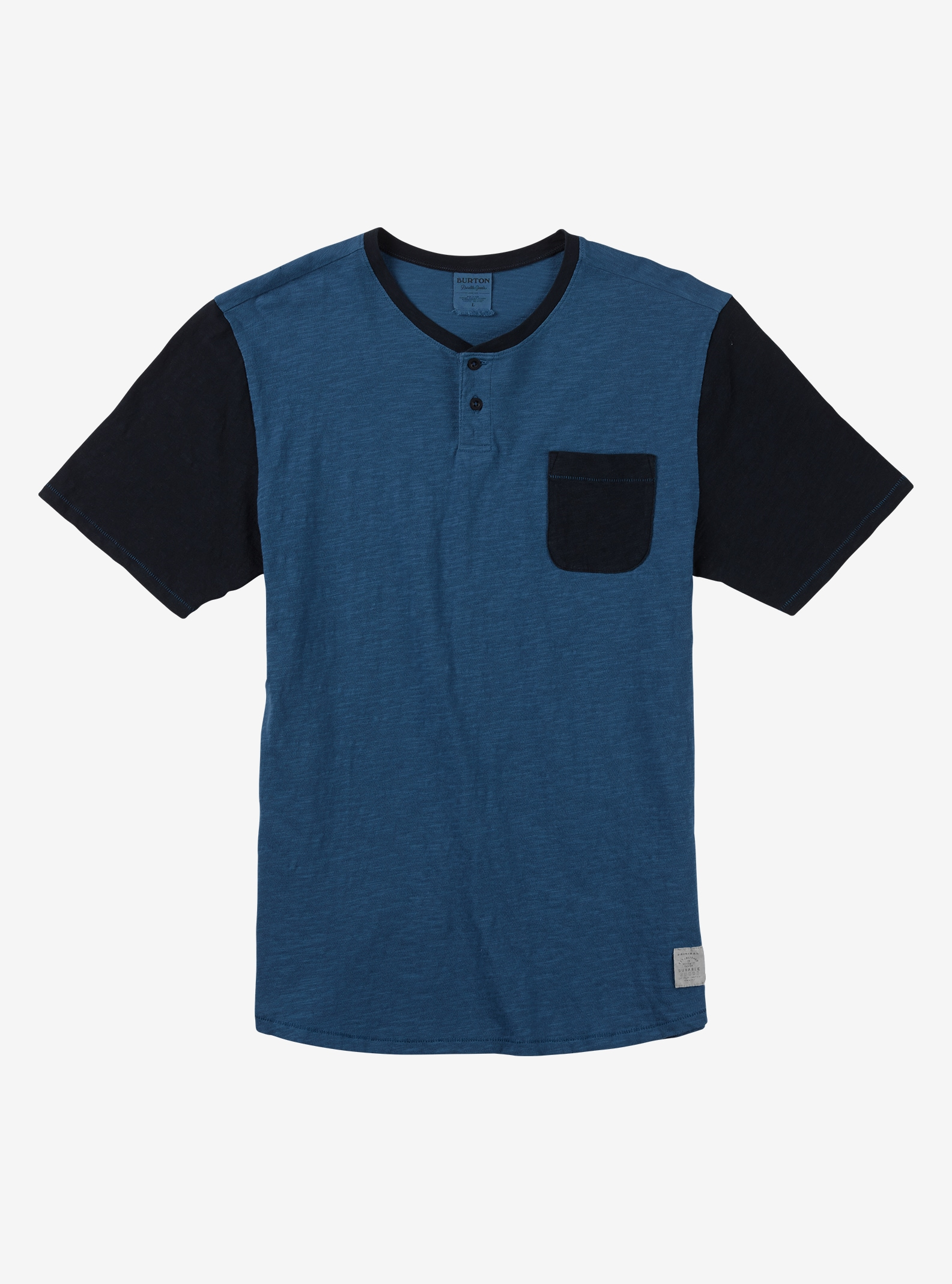 Burton Dwight Henley Tee shown in Indigo