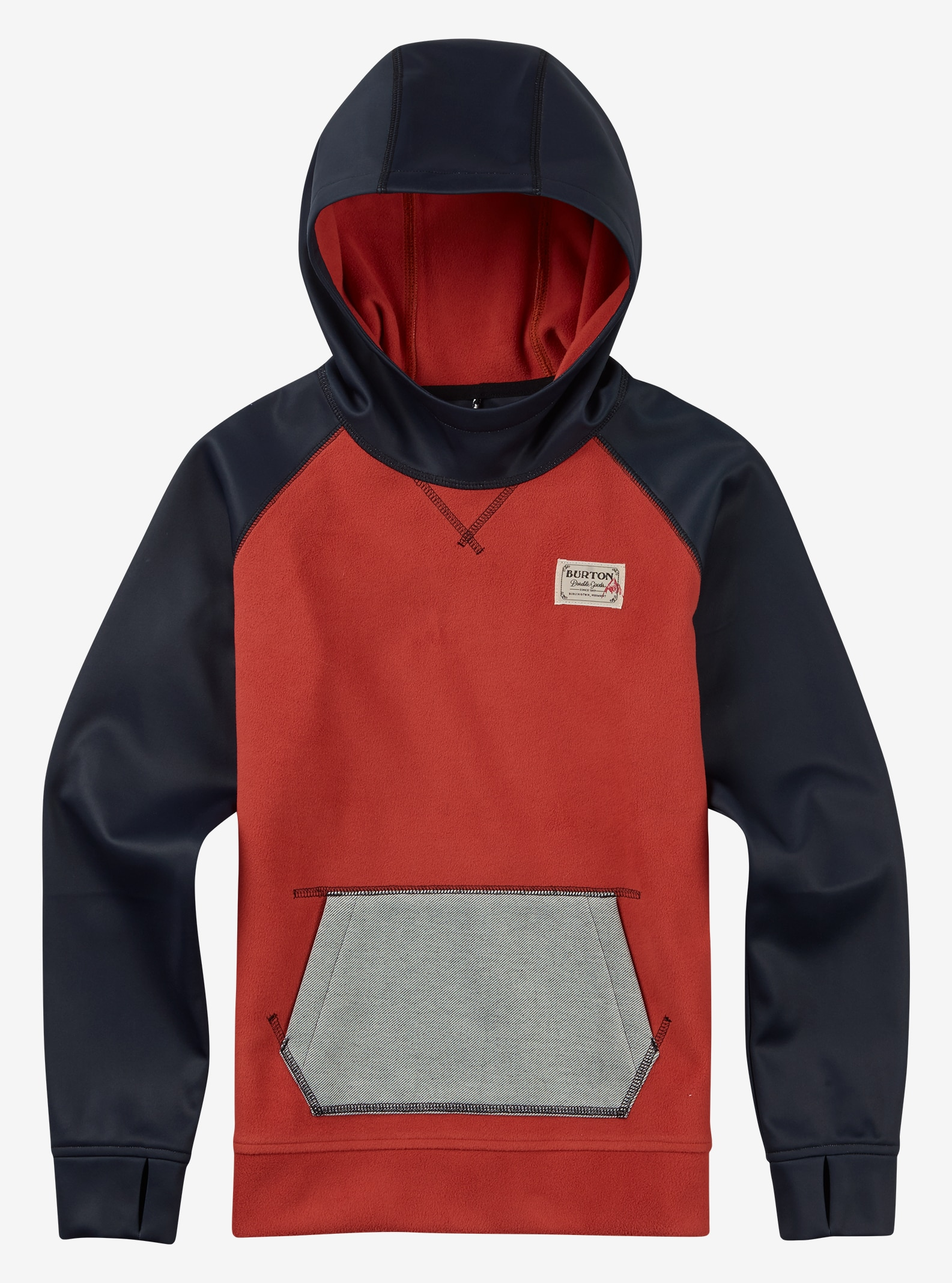 Burton Boys' Crown Bonded Pullover Hoodie shown in Tandori / Eclipse