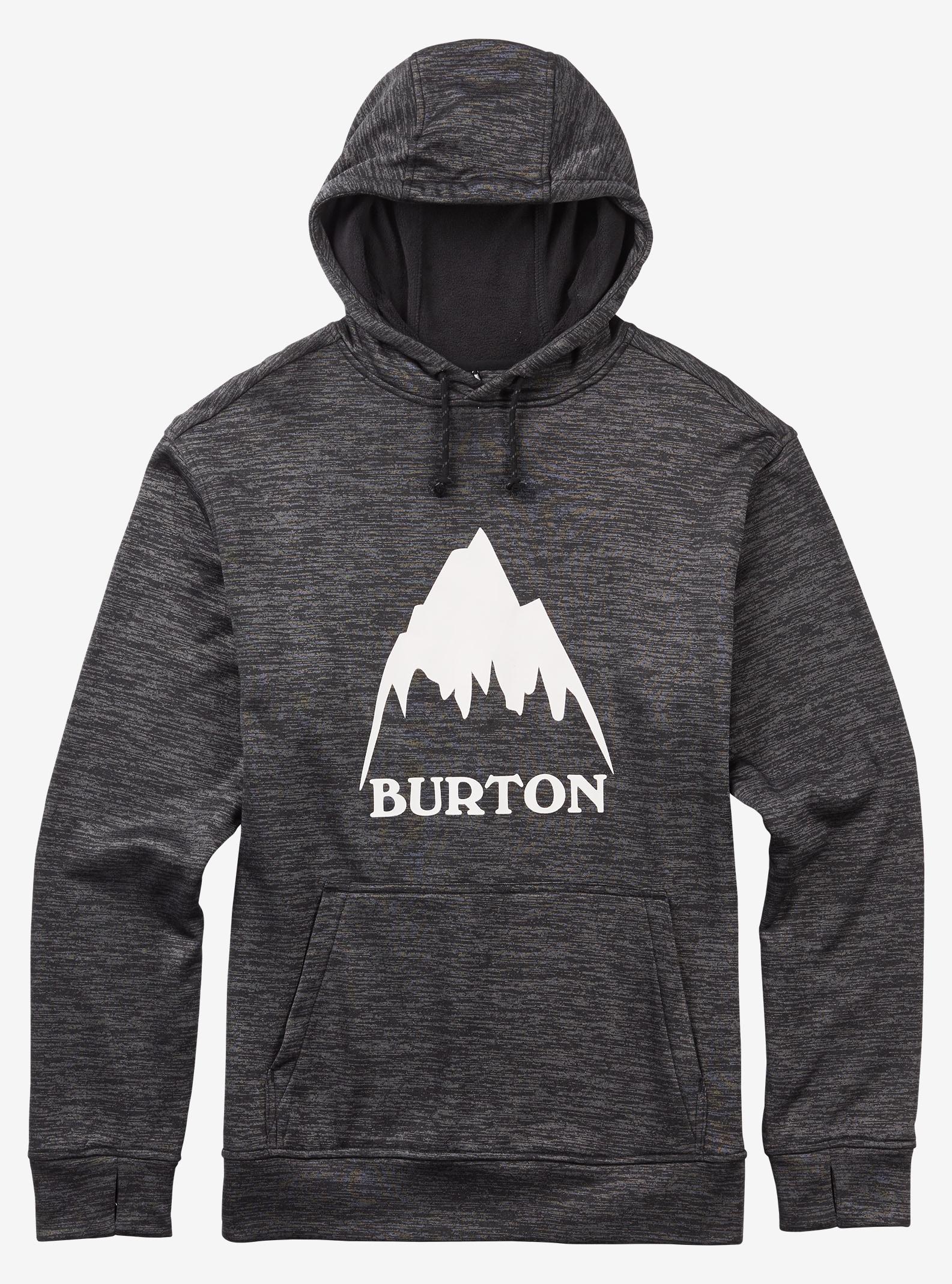 Burton Oak Pullover Hoodie shown in True Black Heather