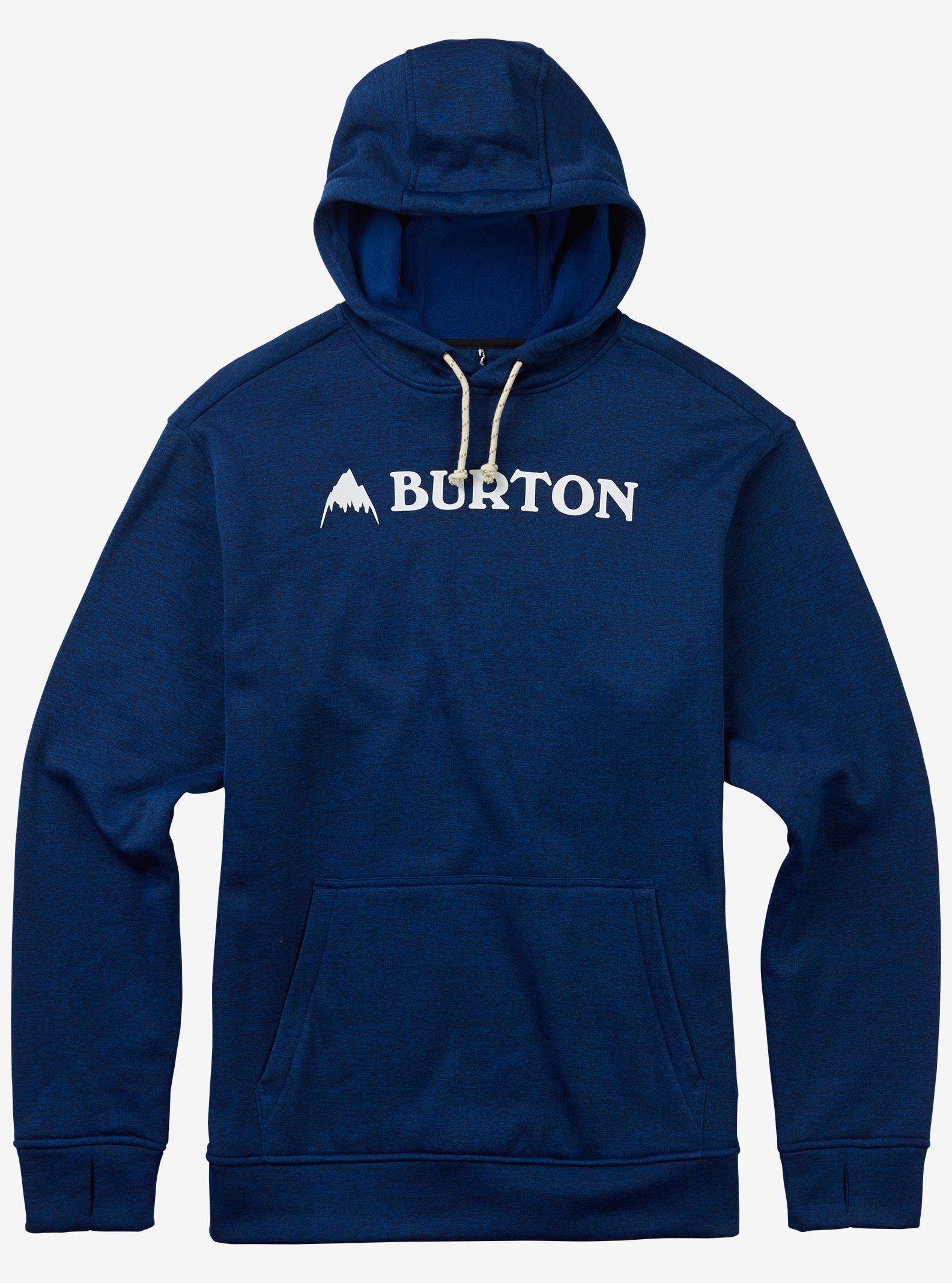 Burton Oak Pullover Hoodie shown in True Blue Heather