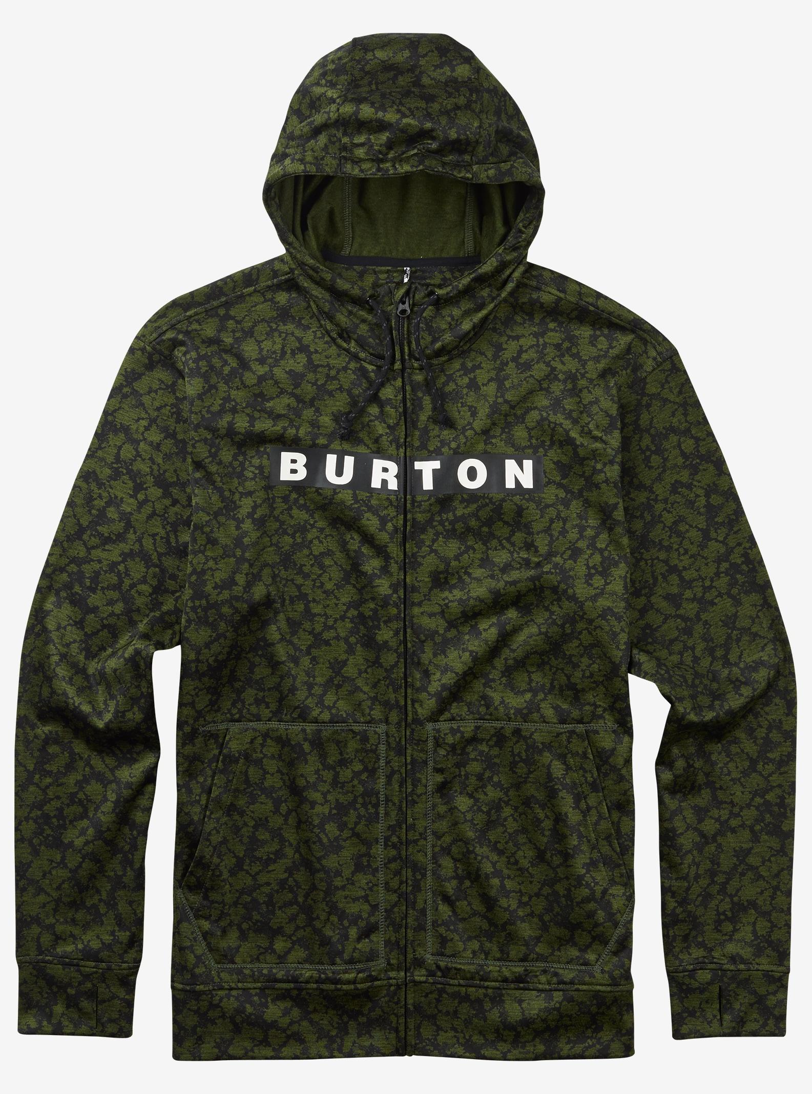 Burton Oak Full-Zip Hoodie shown in Rifle Green Mossglenn