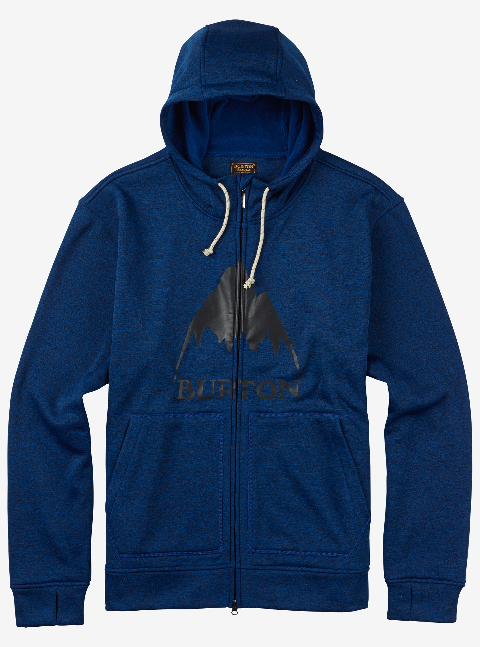 Burton Oak Full-Zip Hoodie shown in True Blue Heather
