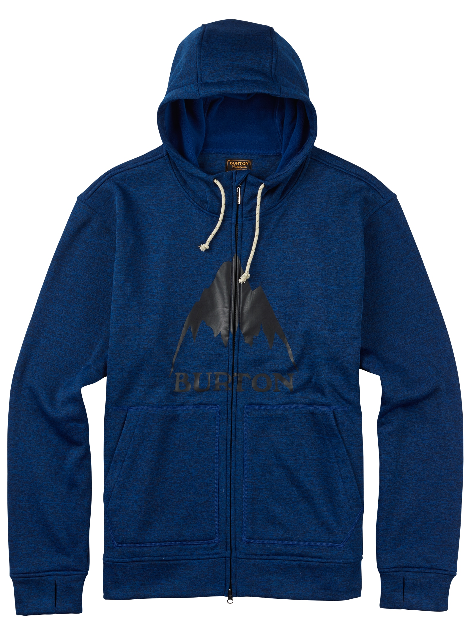 Burton - Sweat zippé à capuche Oak affichage en True Blue Heather