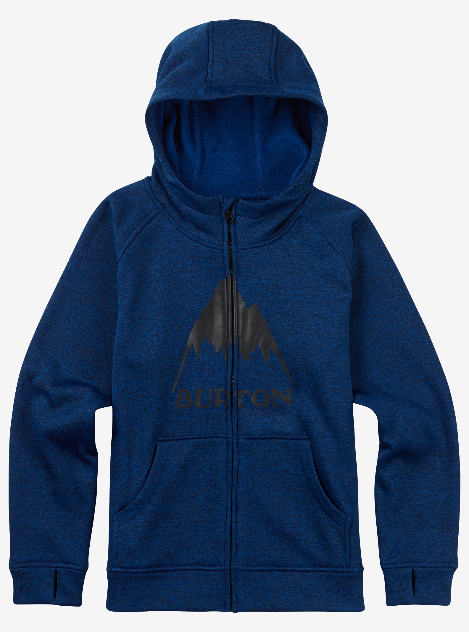 Burton Boys' Oak Full-Zip Hoodie shown in True Blue Heather