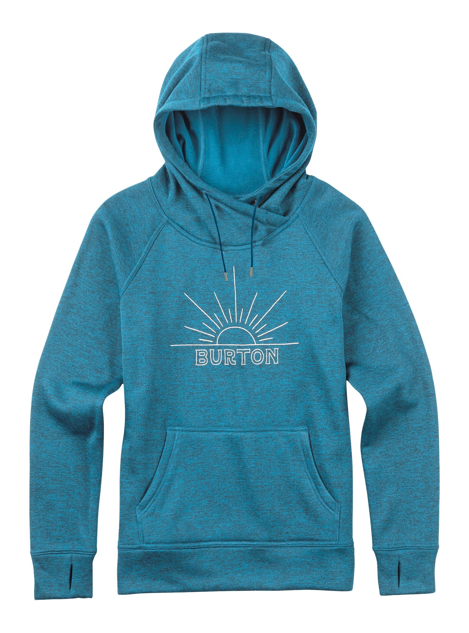 Burton Quartz Pullover Hoodie shown in True Blue / Everglade Heather