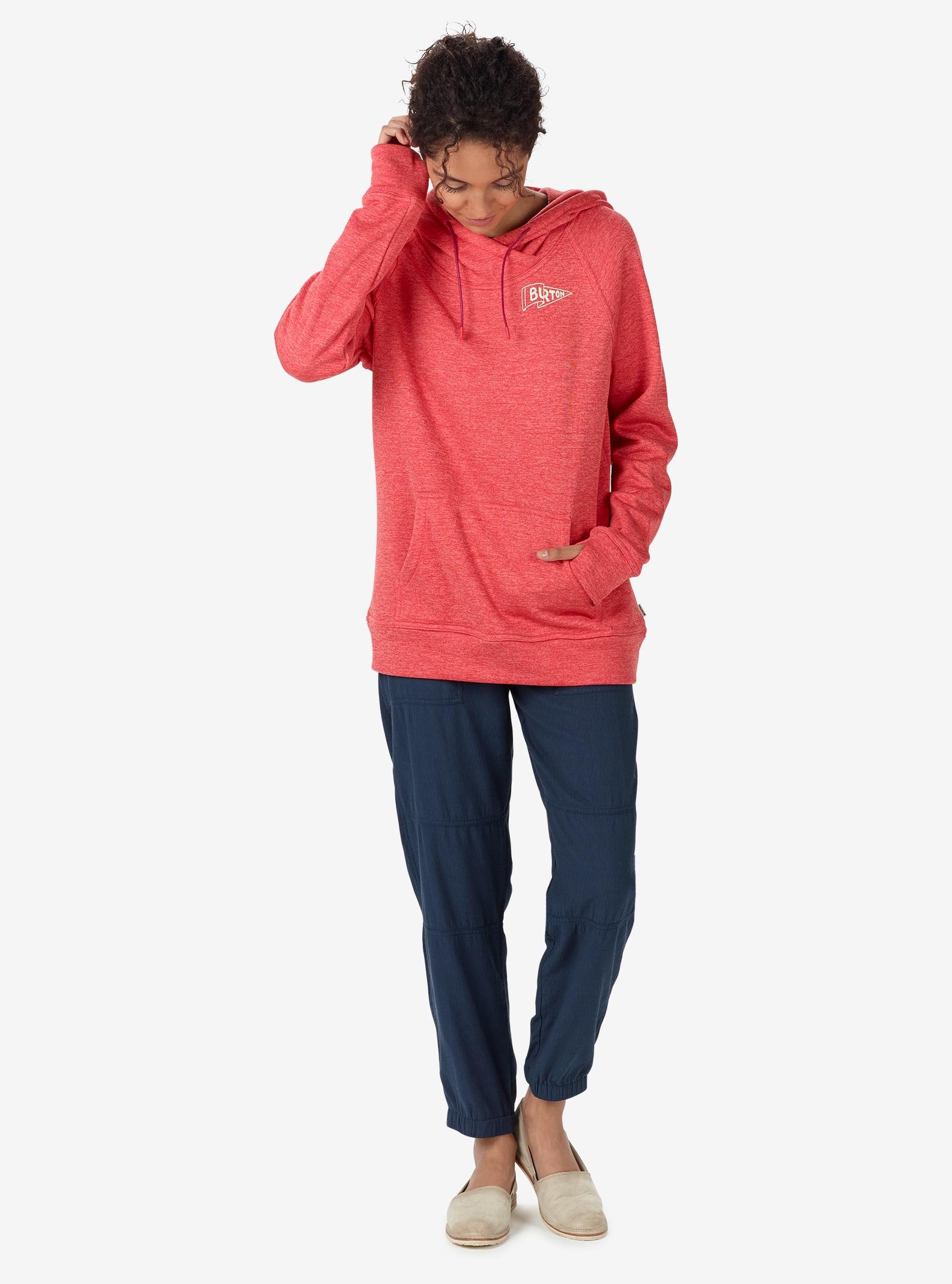Burton Quartz Pullover Hoodie shown in Coral / Sashimi Heather
