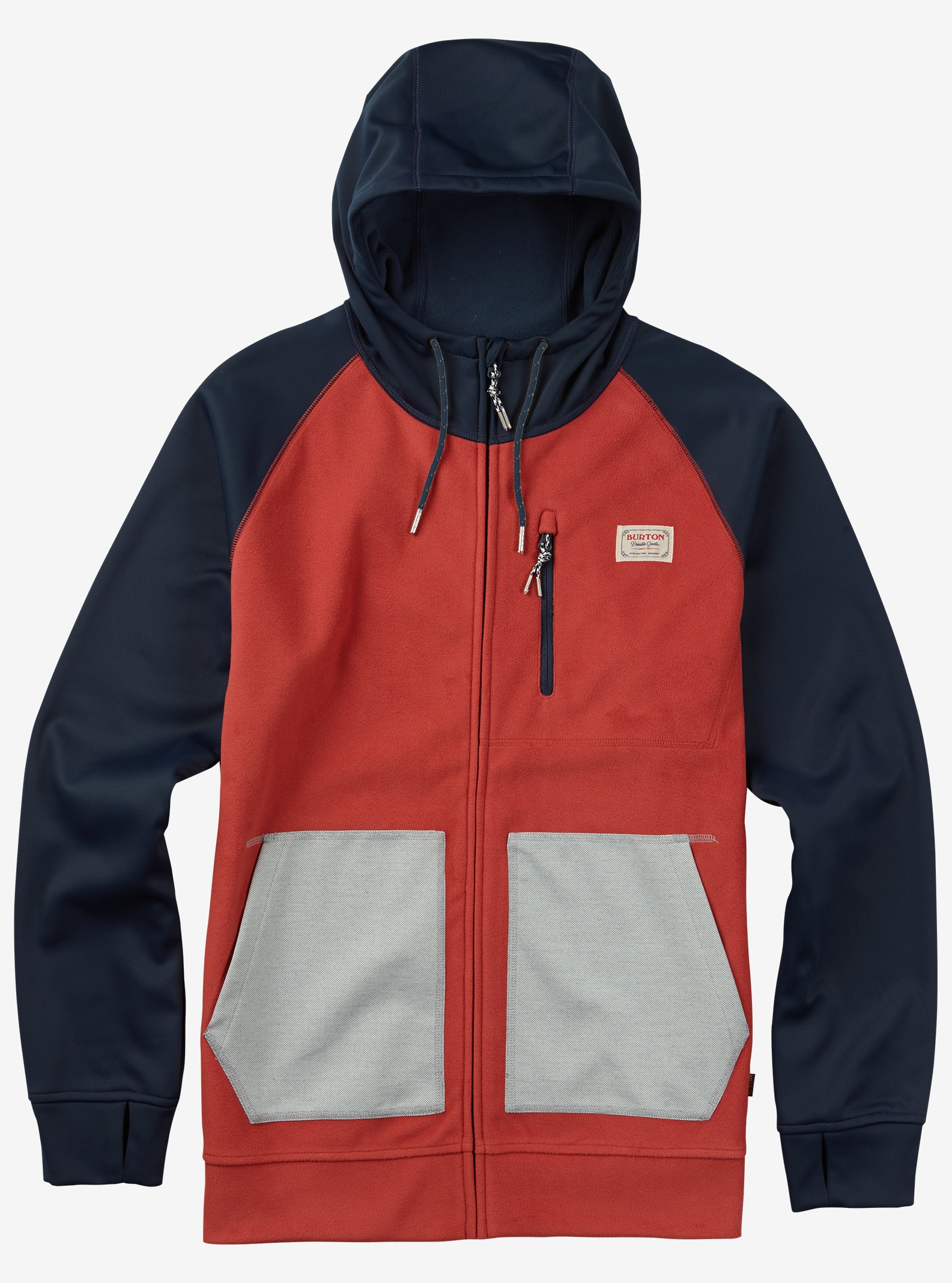 Burton Bonded Full-Zip Hoodie shown in Tandori / Eclipse