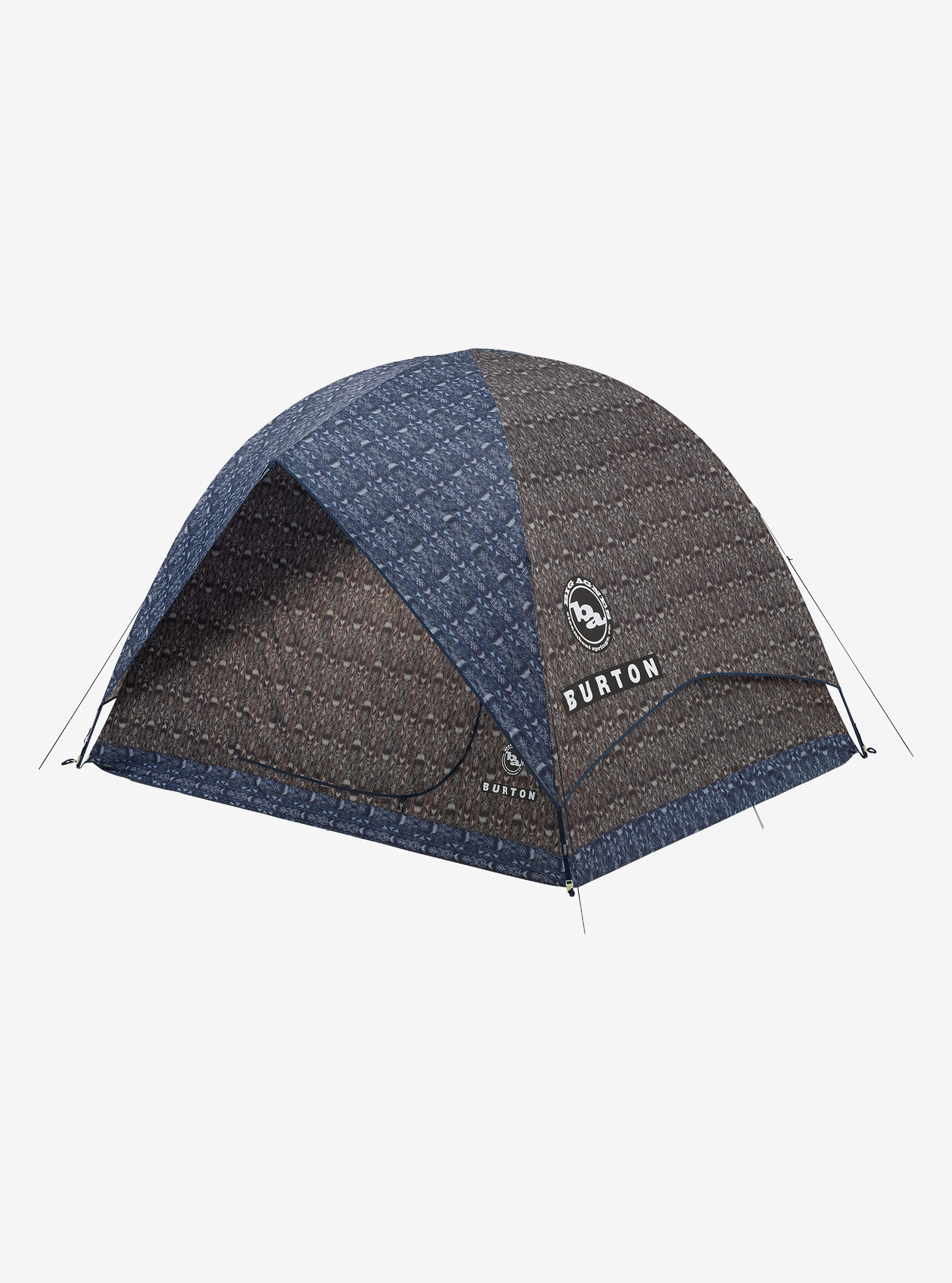 Big Agnes x Burton Rabbit Ears 6 Tent shown in Guatikat Print