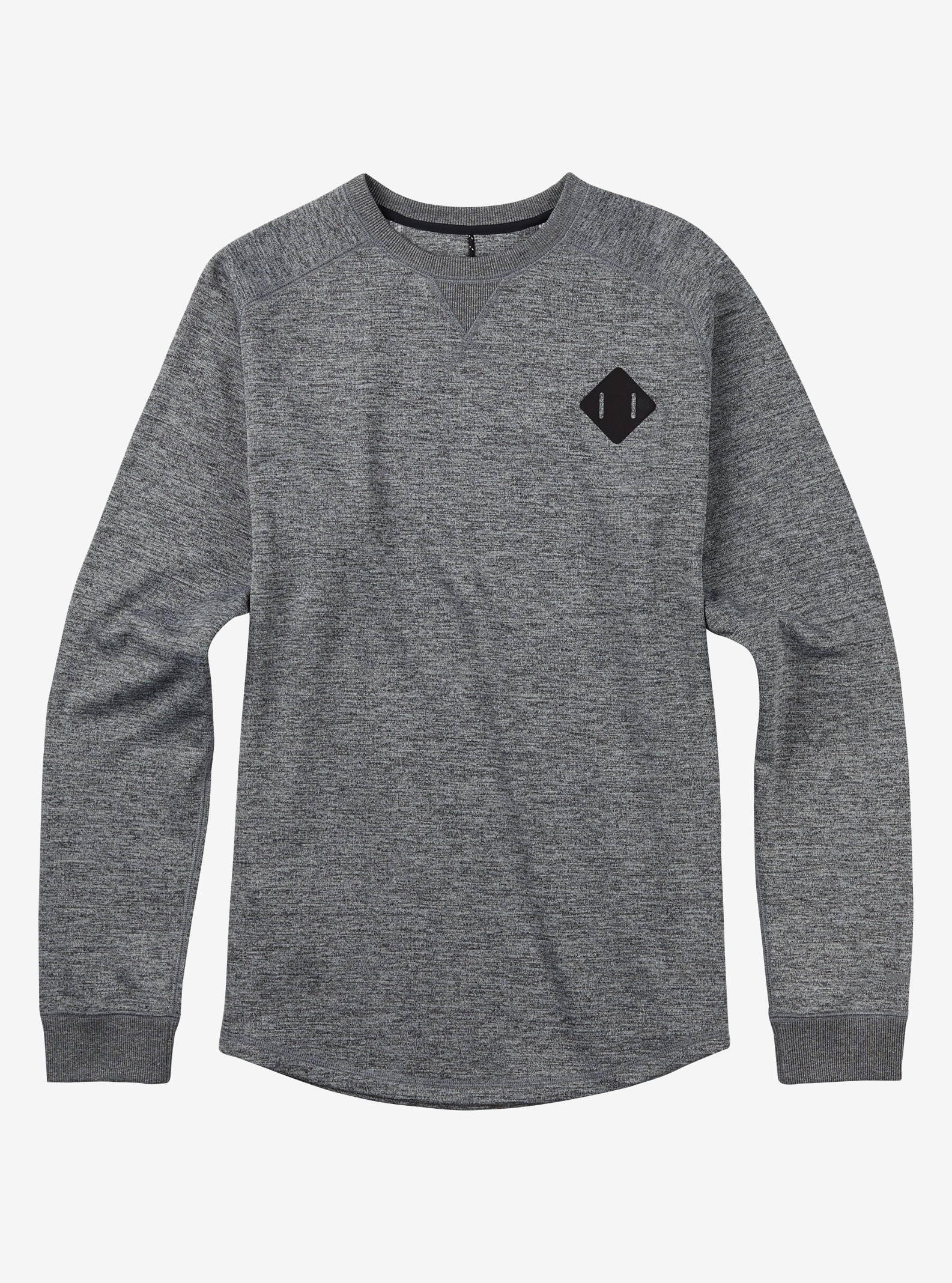Burton - Pull col rond Caption affichage en True Black Heather