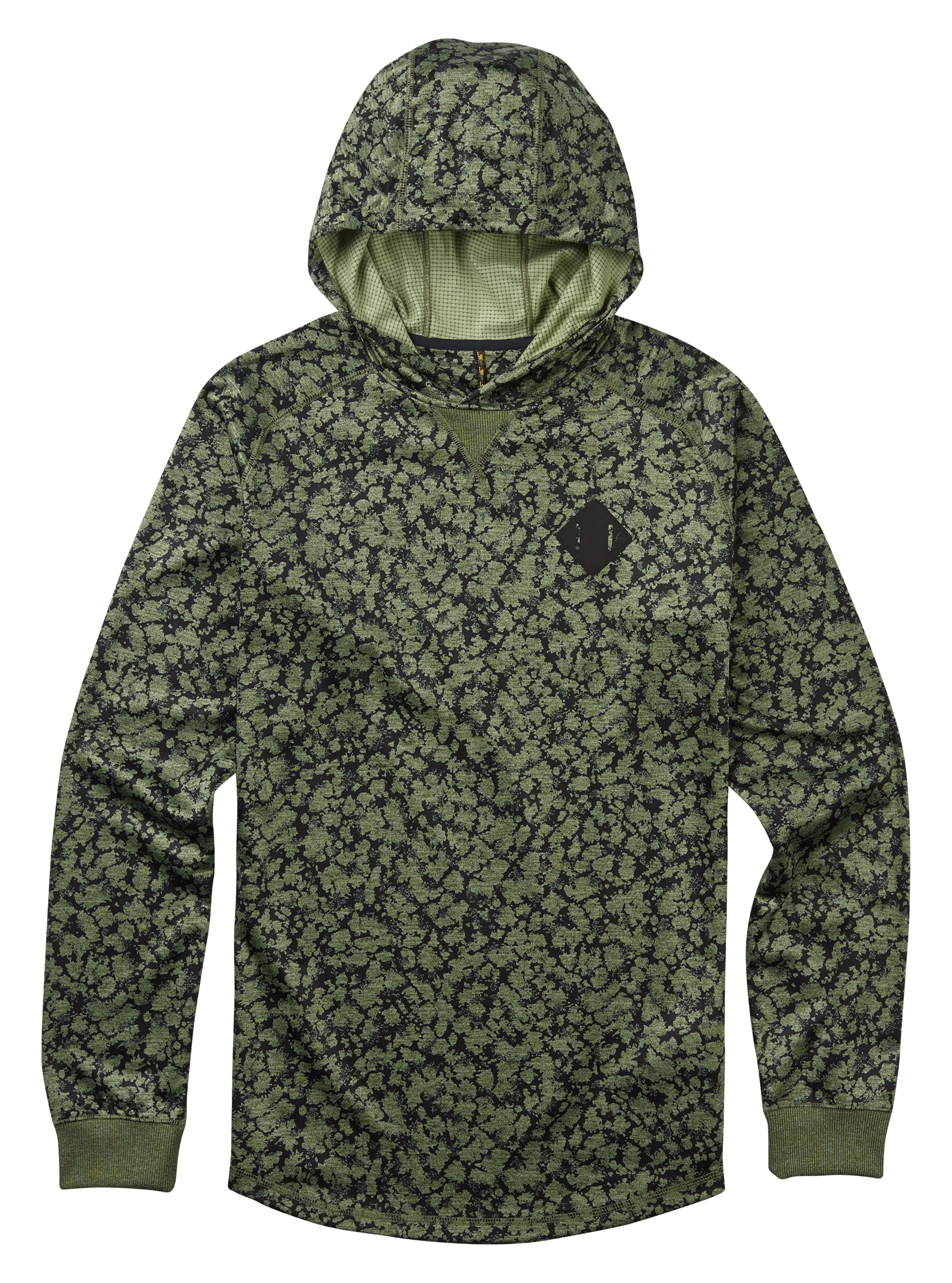 Burton Caption Pullover Hoodie shown in Rifle Green Mossglenn