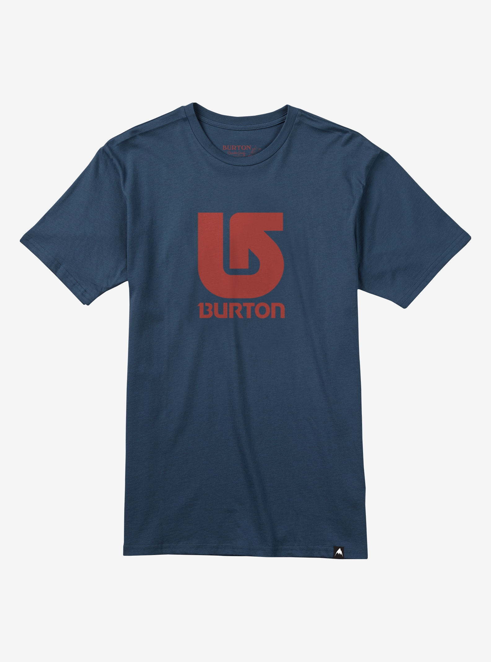 Burton Logo Vertical Slim Fit Short Sleeve T Shirt shown in Indigo