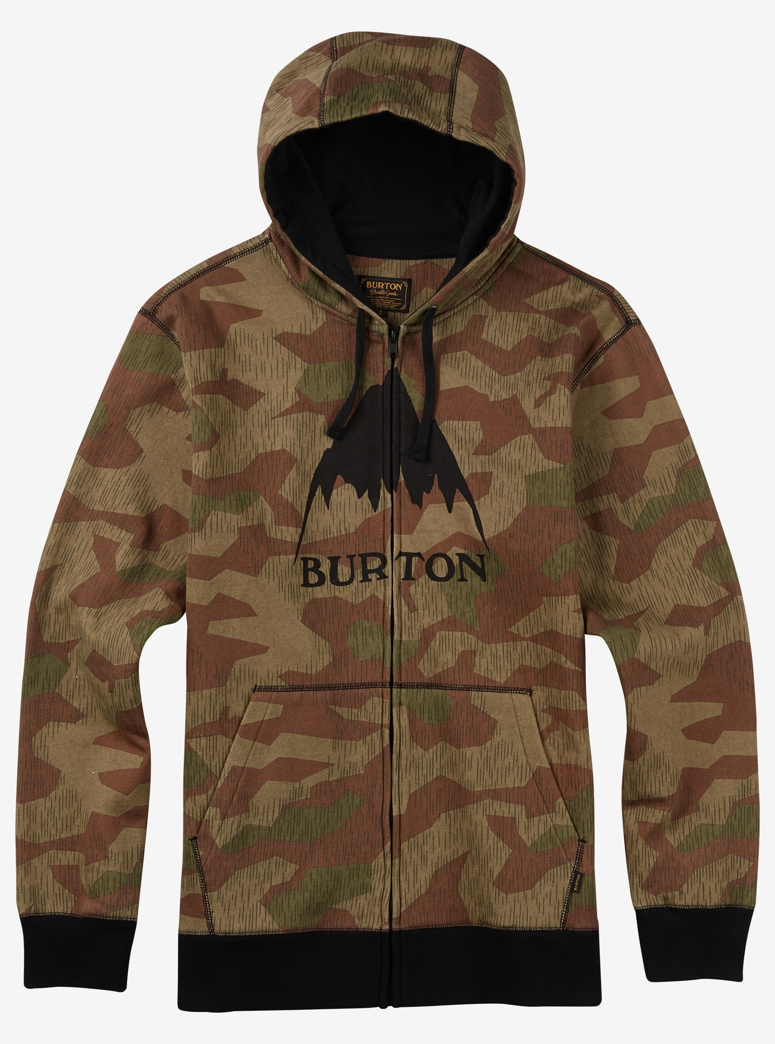 Burton Classic Mountain Full-Zip Hoodie shown in Splinter Camo