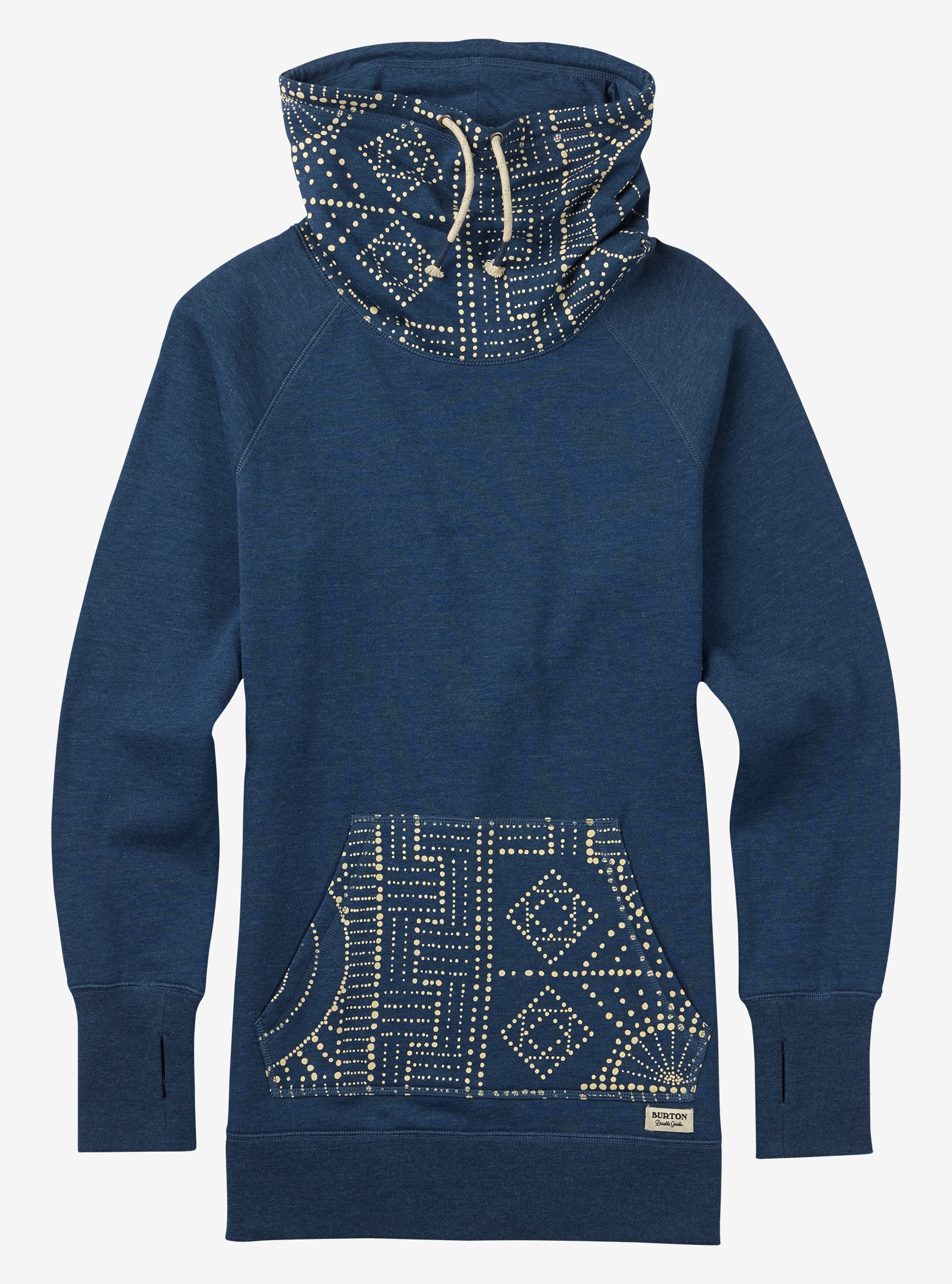 Burton Foxtrot Fleece shown in Indigo Heather