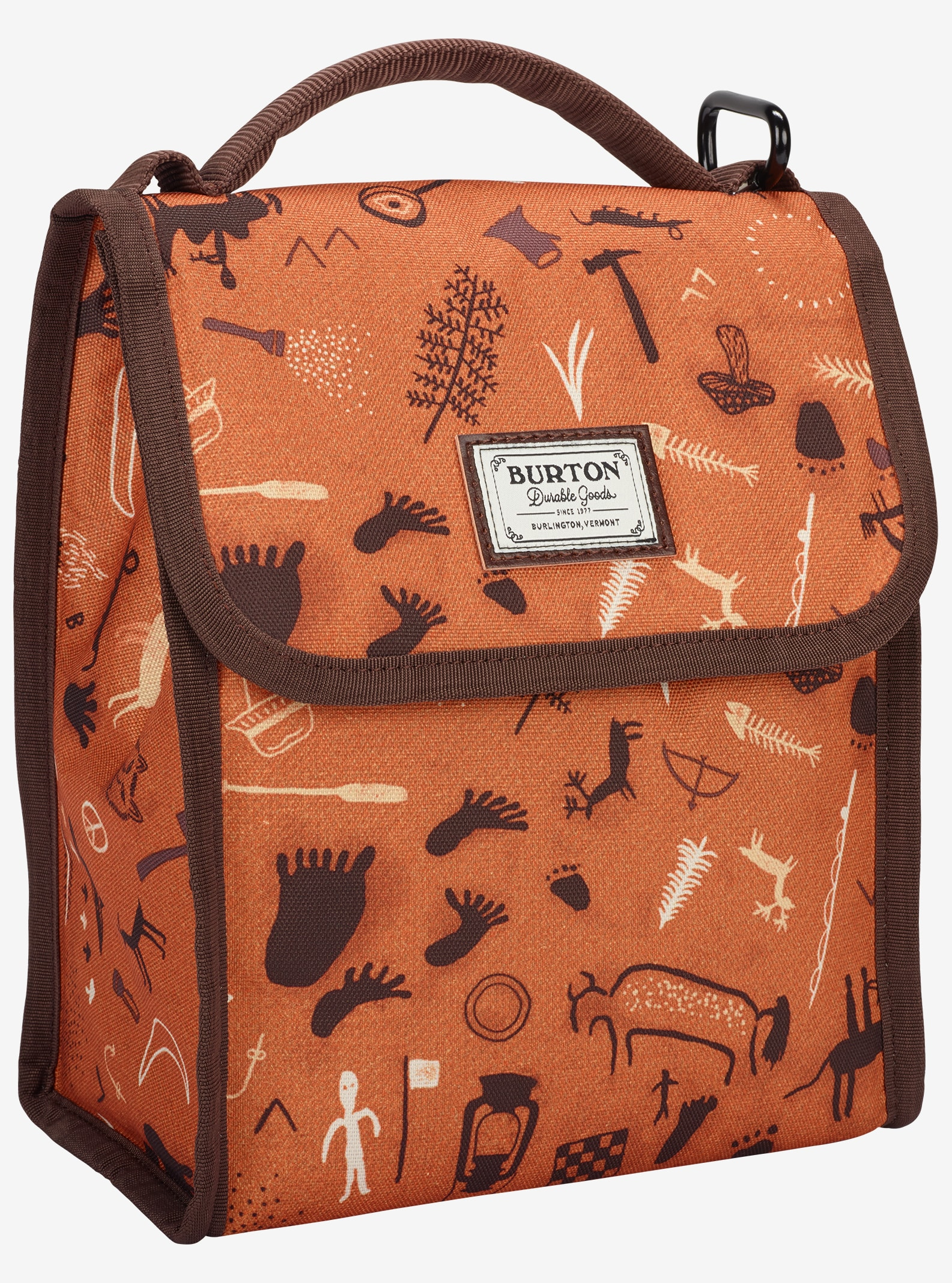Burton Lunch Sack shown in Caveman Print
