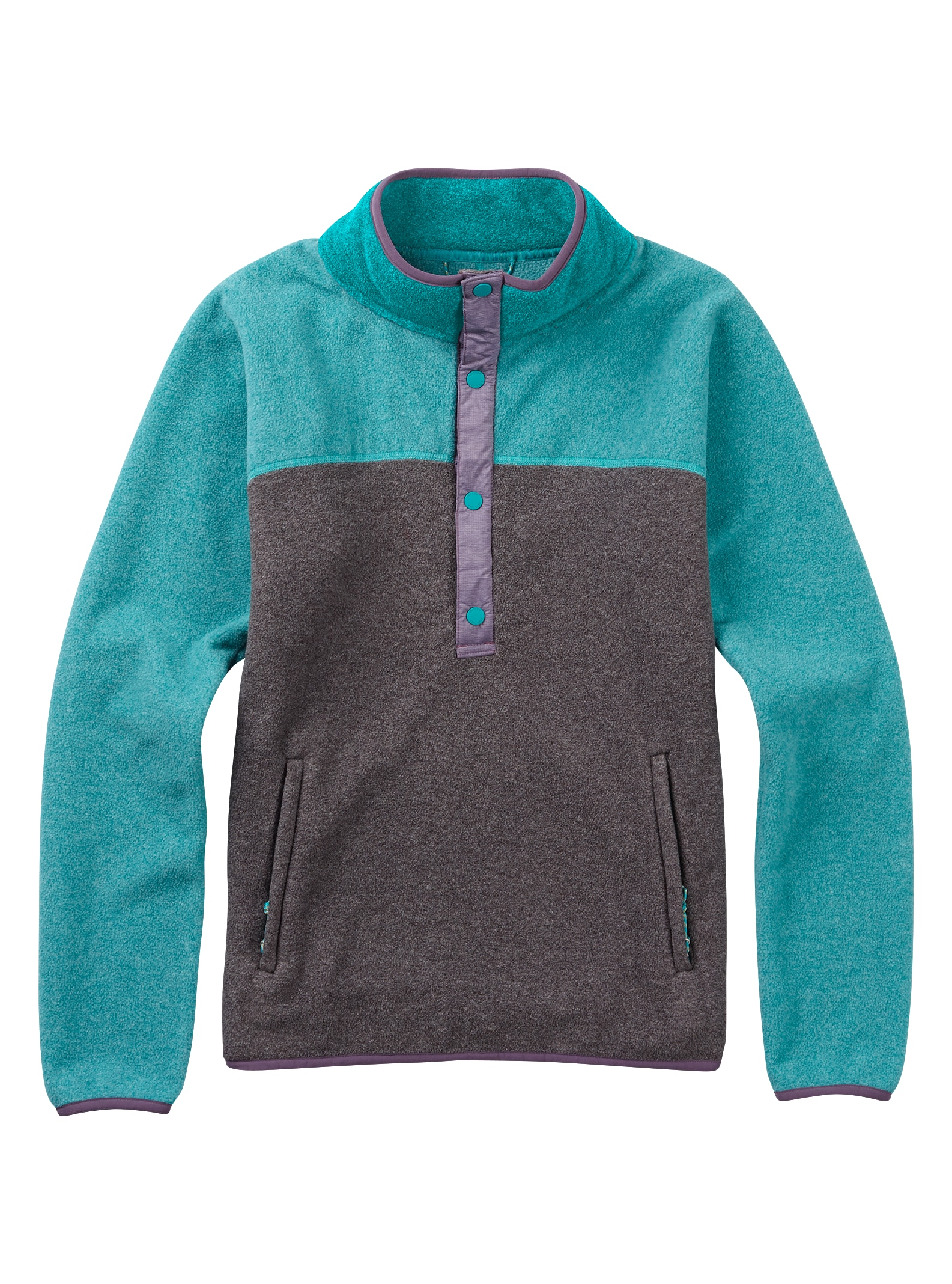 Burton Anouk Fleece-Pullover angezeigt in Phantom Heather / Everglade