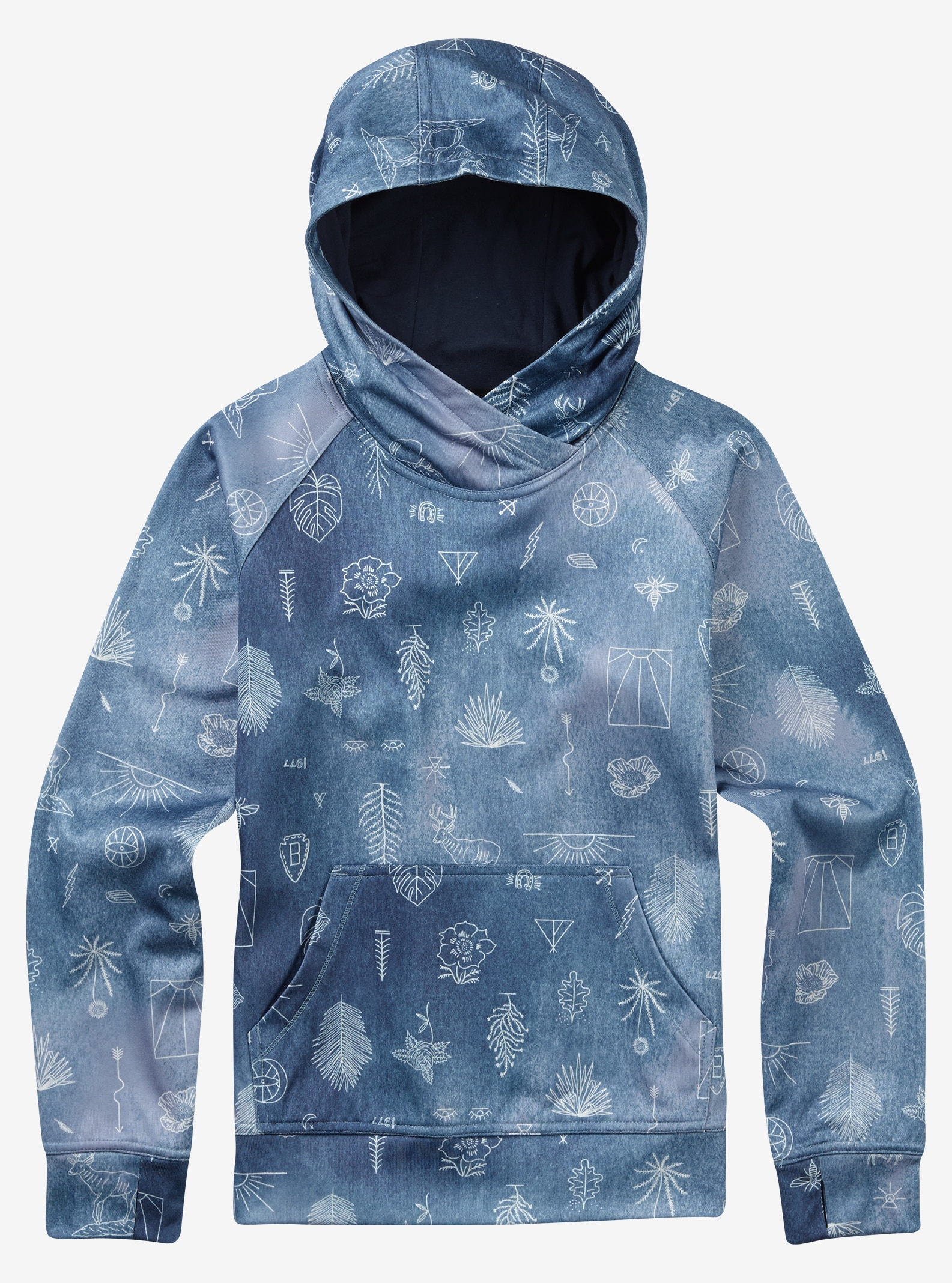 Burton Girls' Phantom Pullover Hoodie shown in Freedom