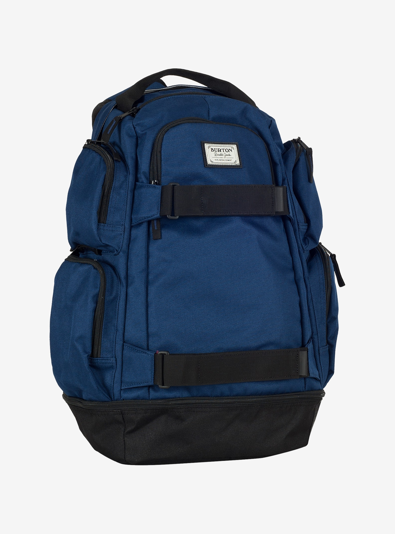 Burton Distortion Backpack shown in Medieval Blue Twill