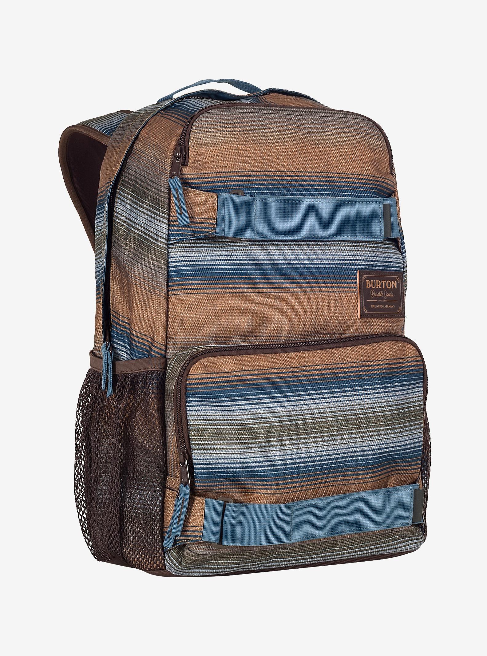 Burton Treble Yell Backpack shown in Beach Stripe Print