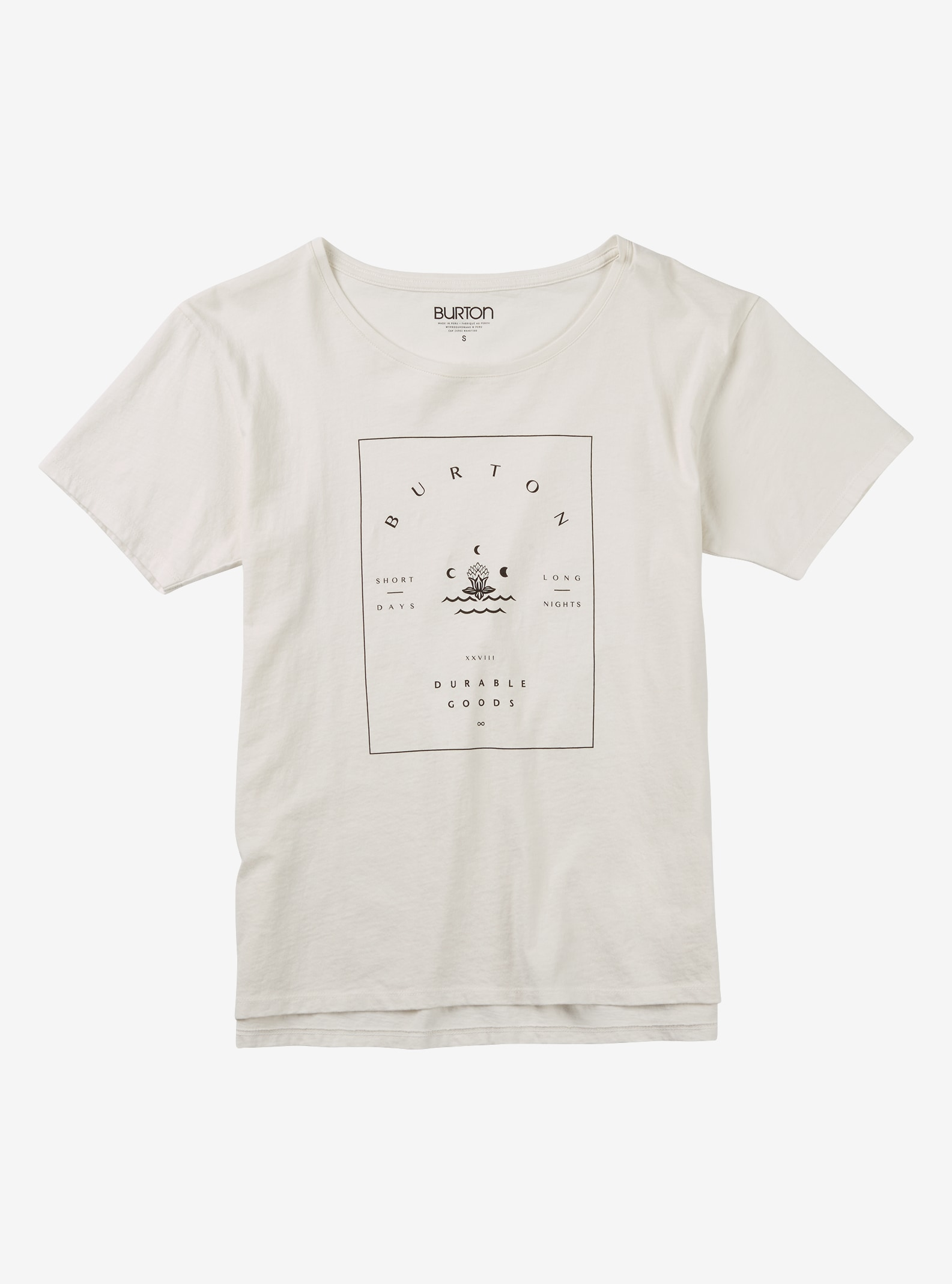 Burton Night Lily T-Shirt angezeigt in Stout White