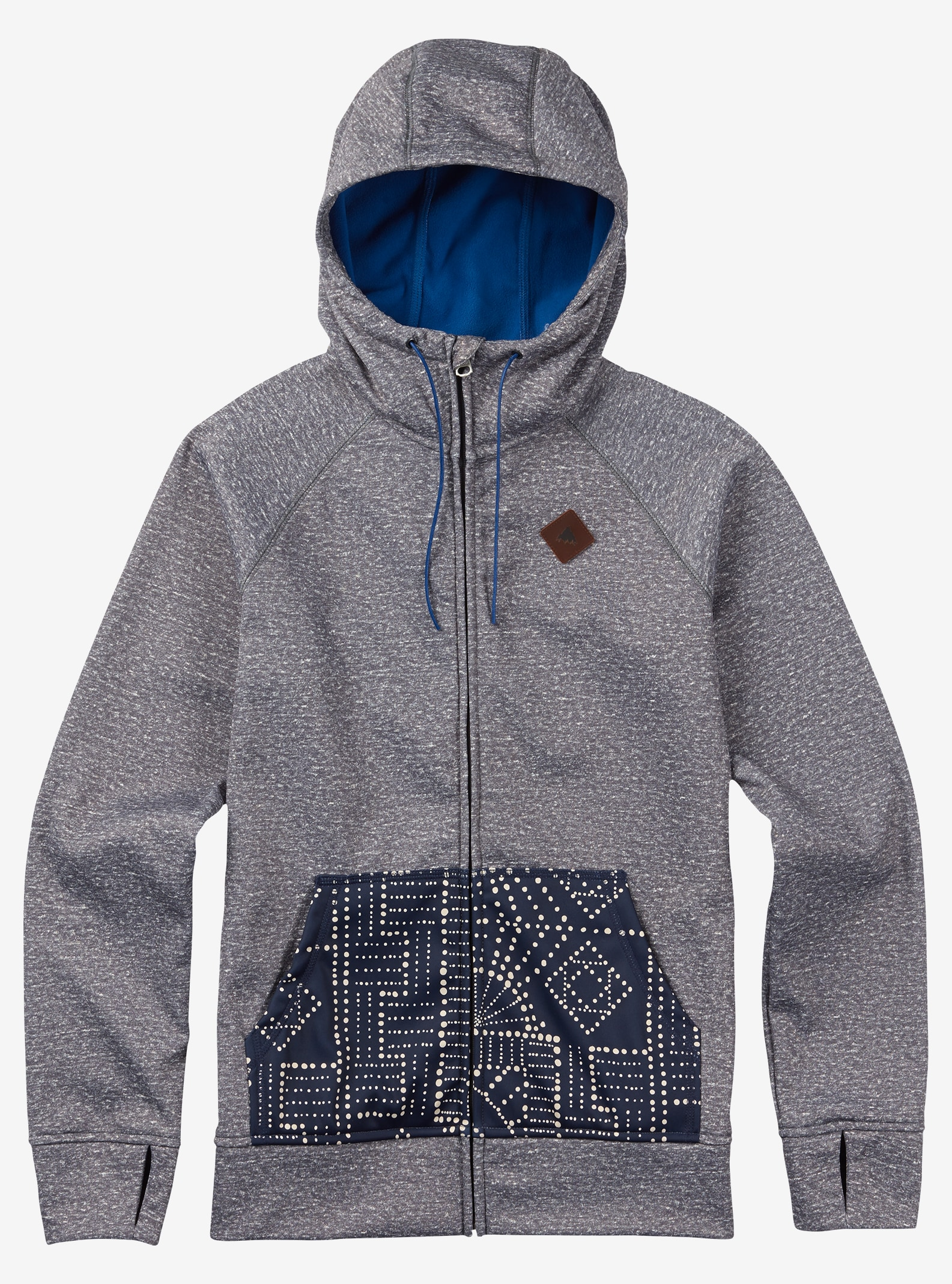 Burton Scoop Hoodie shown in Shade Heather
