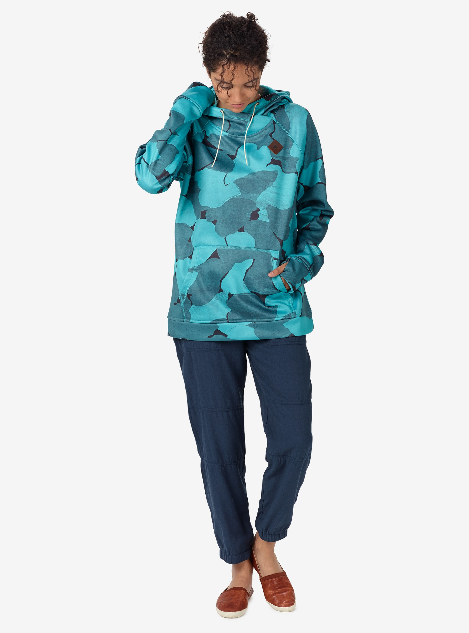 Burton Heron Pullover Hoodie shown in Everglade Pond Camo