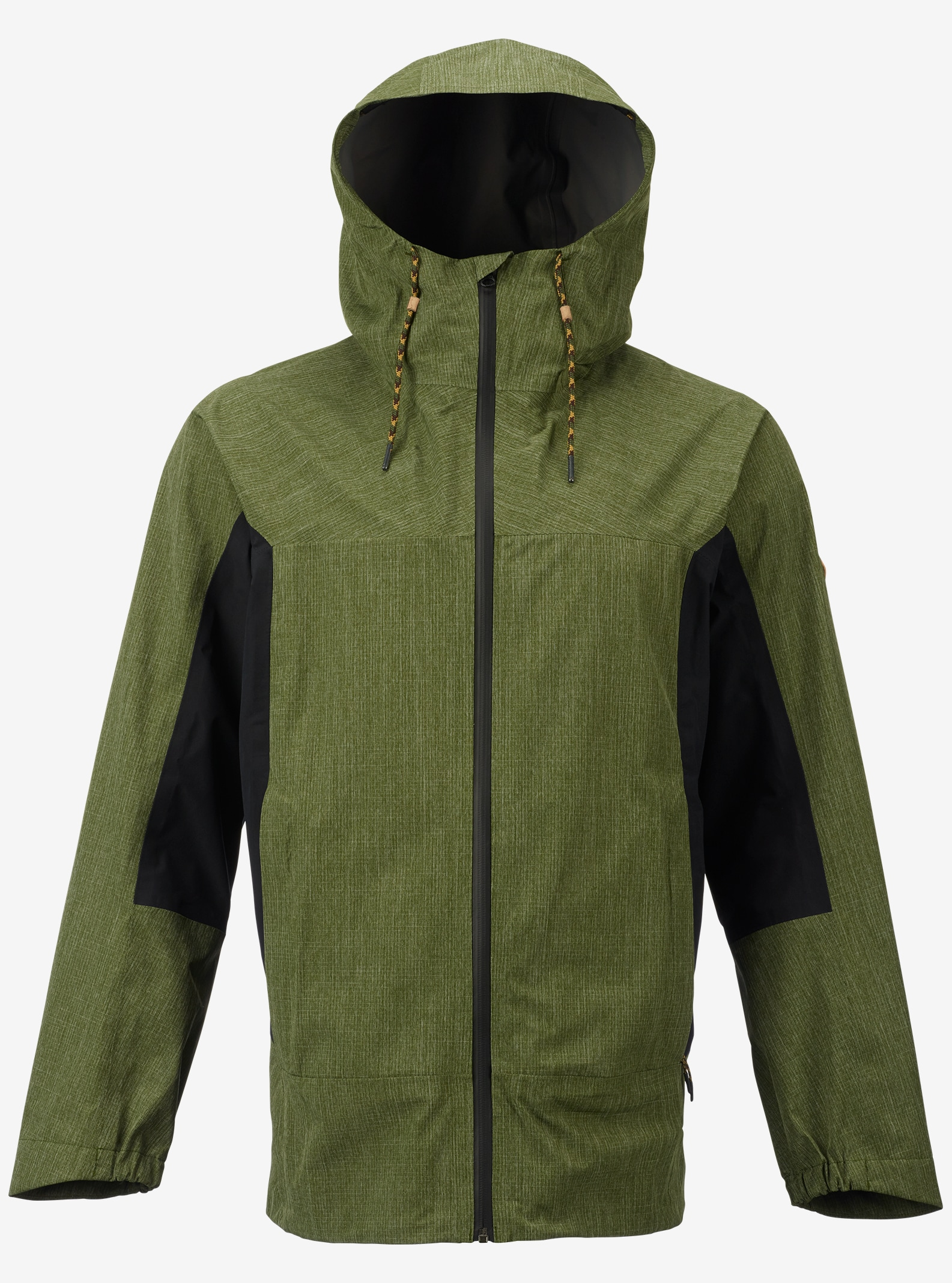 Burton GORE-TEX® 2L Packrite Rain Jacket shown in Rifle Green / True Black