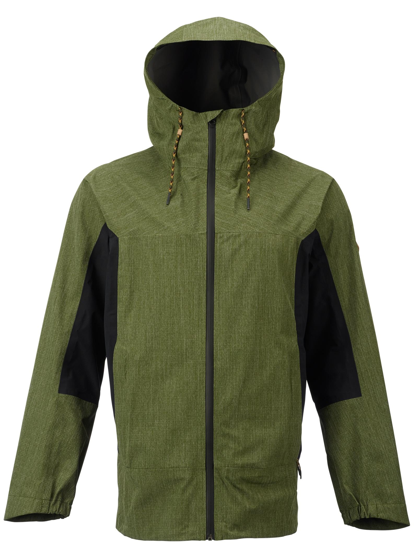 Burton GORE-TEX® 2L Packrite Rain Jacket shown in Rifle Green / True Black