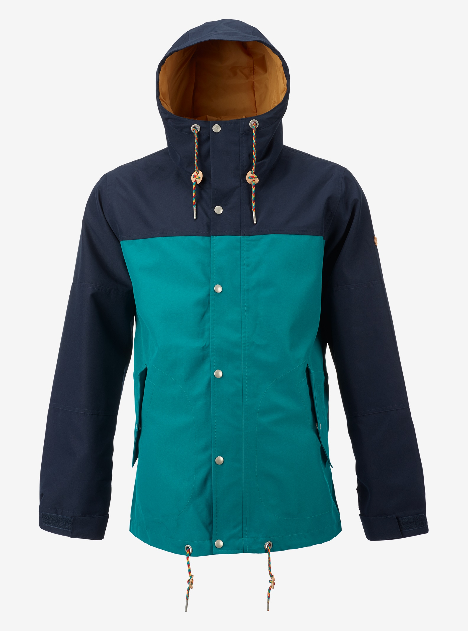 Burton Notch Rain Jacket shown in Eclipse / Fanfare